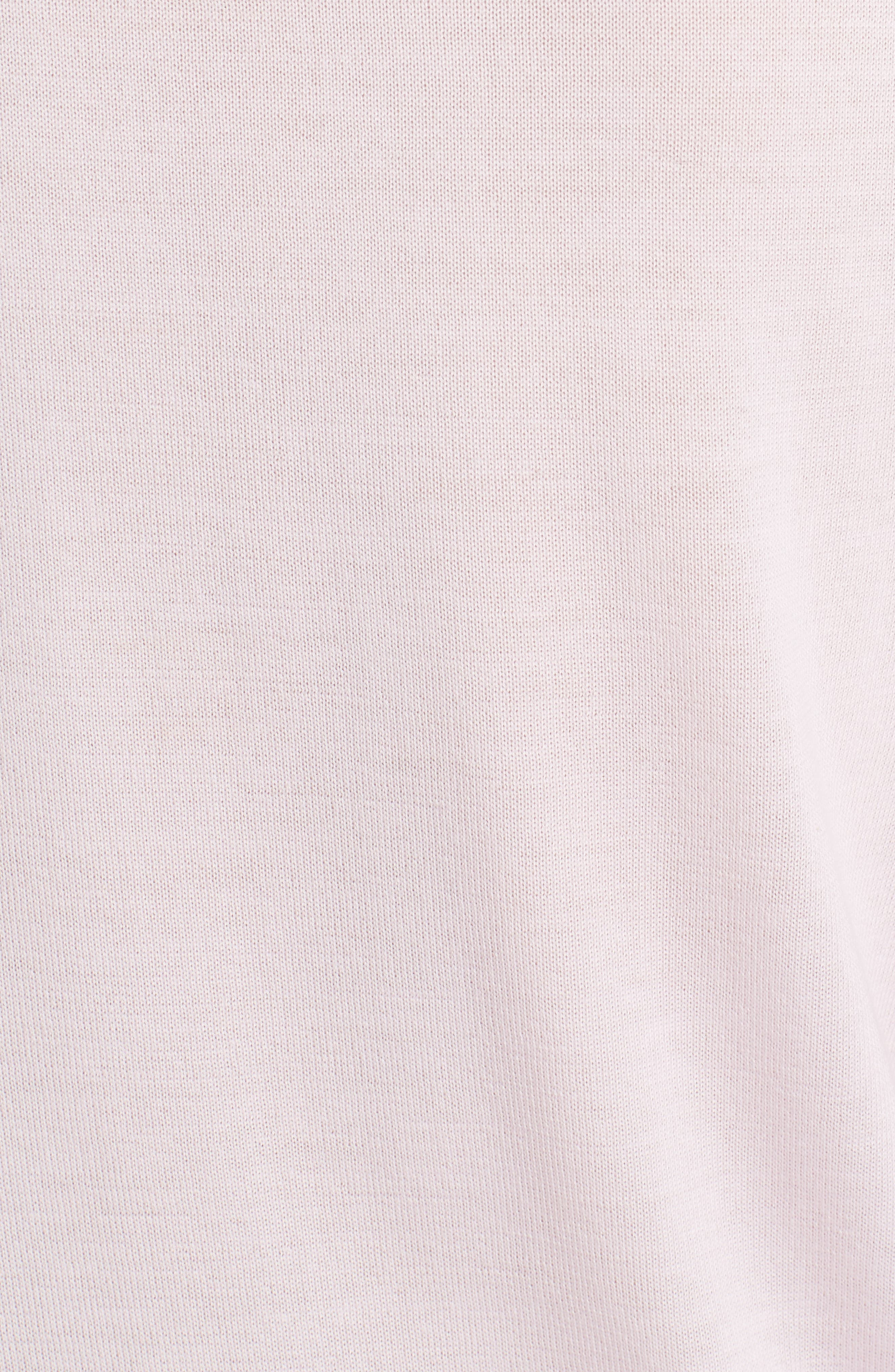 Cashmere Sweater,                             Alternate thumbnail 3, color,                             Powder Pink