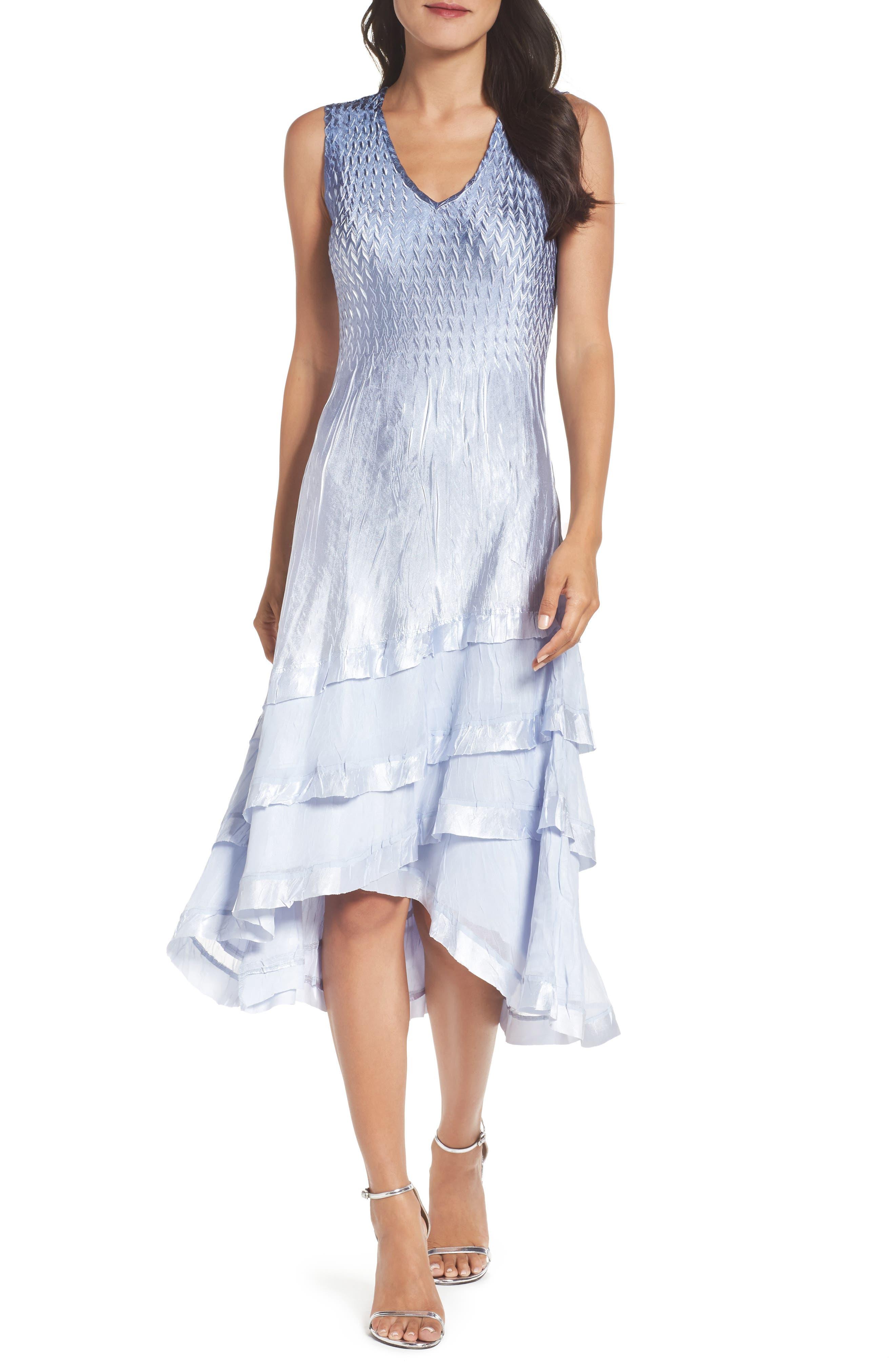Alternate Image 2  - Komarov Tiered Dress with Jacket (Regular & Petite)