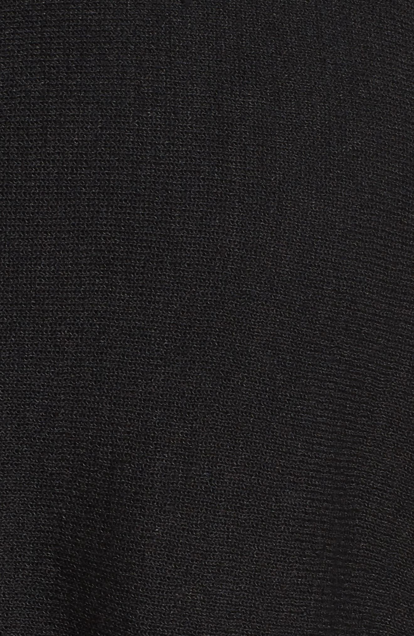 Alternate Image 5  - Sejour Sheer Inset Linen Blend Tunic Top (Plus Size)