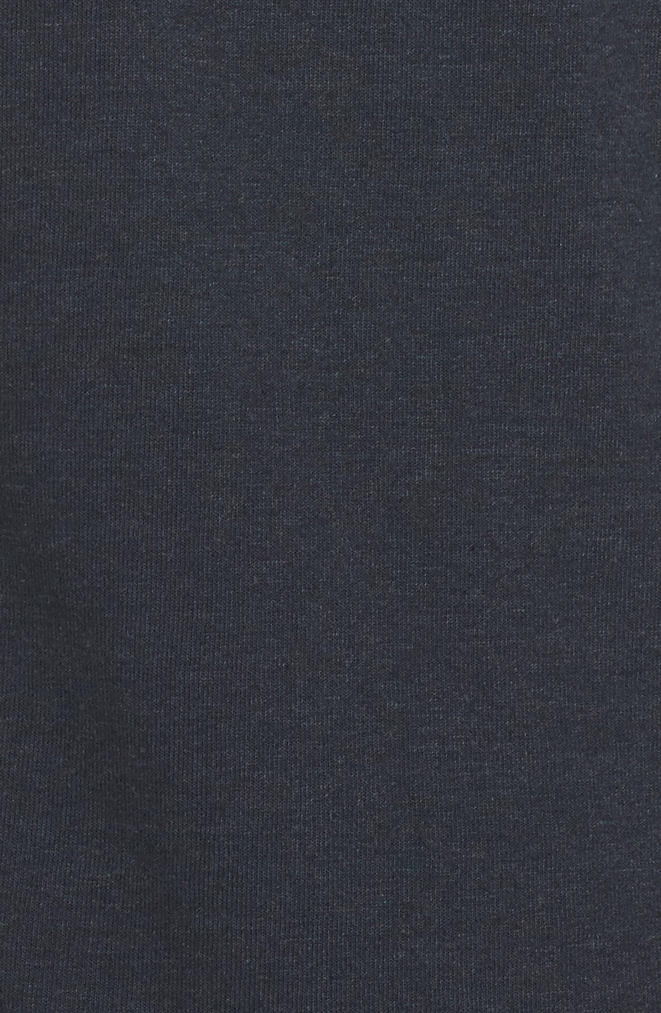 5-Stripe Zip Hoodie,                             Alternate thumbnail 6, color,                             Charcoal