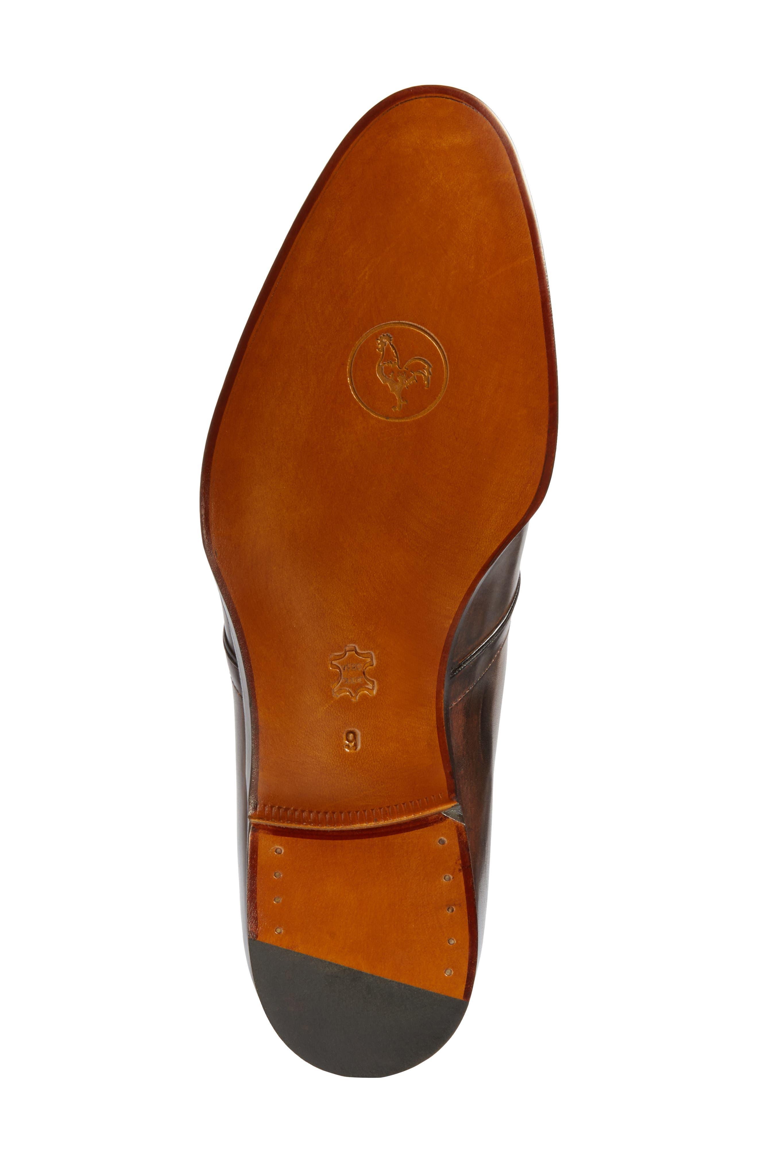 Monk Strap Shoe,                             Alternate thumbnail 6, color,                             Brown