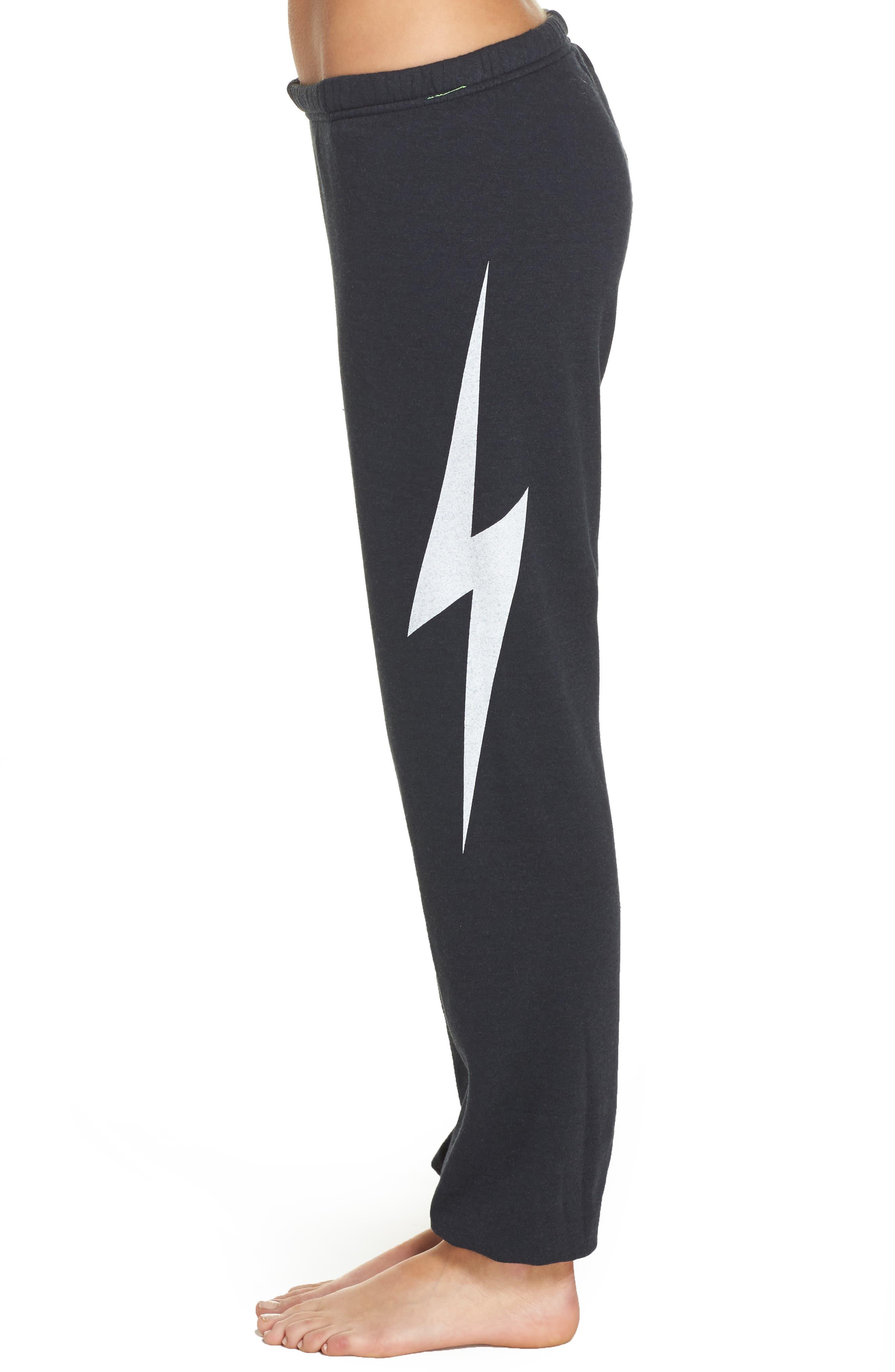 Bolt Sweatpants,                             Alternate thumbnail 4, color,                             Charcoal