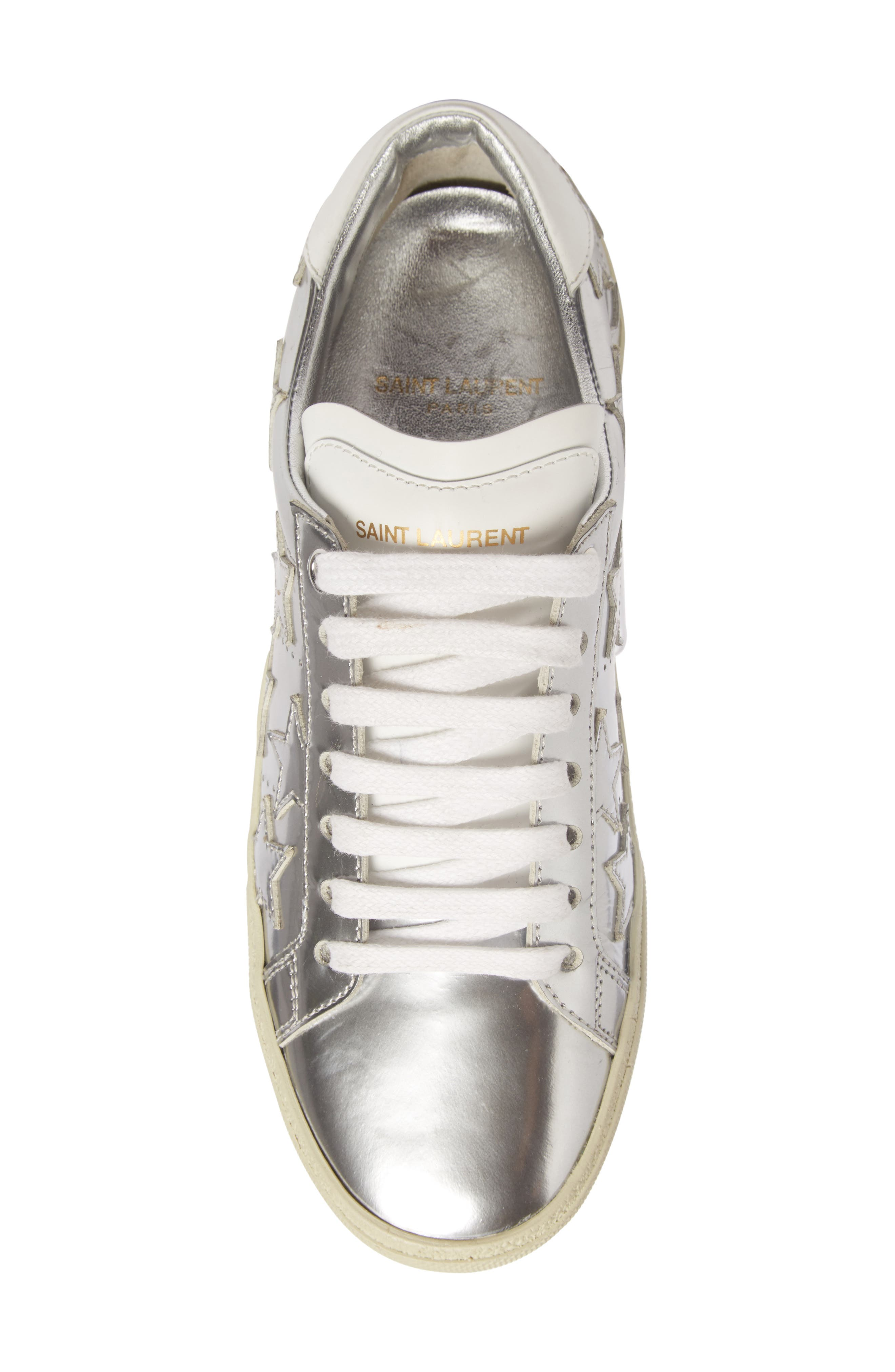 Classic Court Stars Sneaker,                             Alternate thumbnail 3, color,                             Metallic Silver