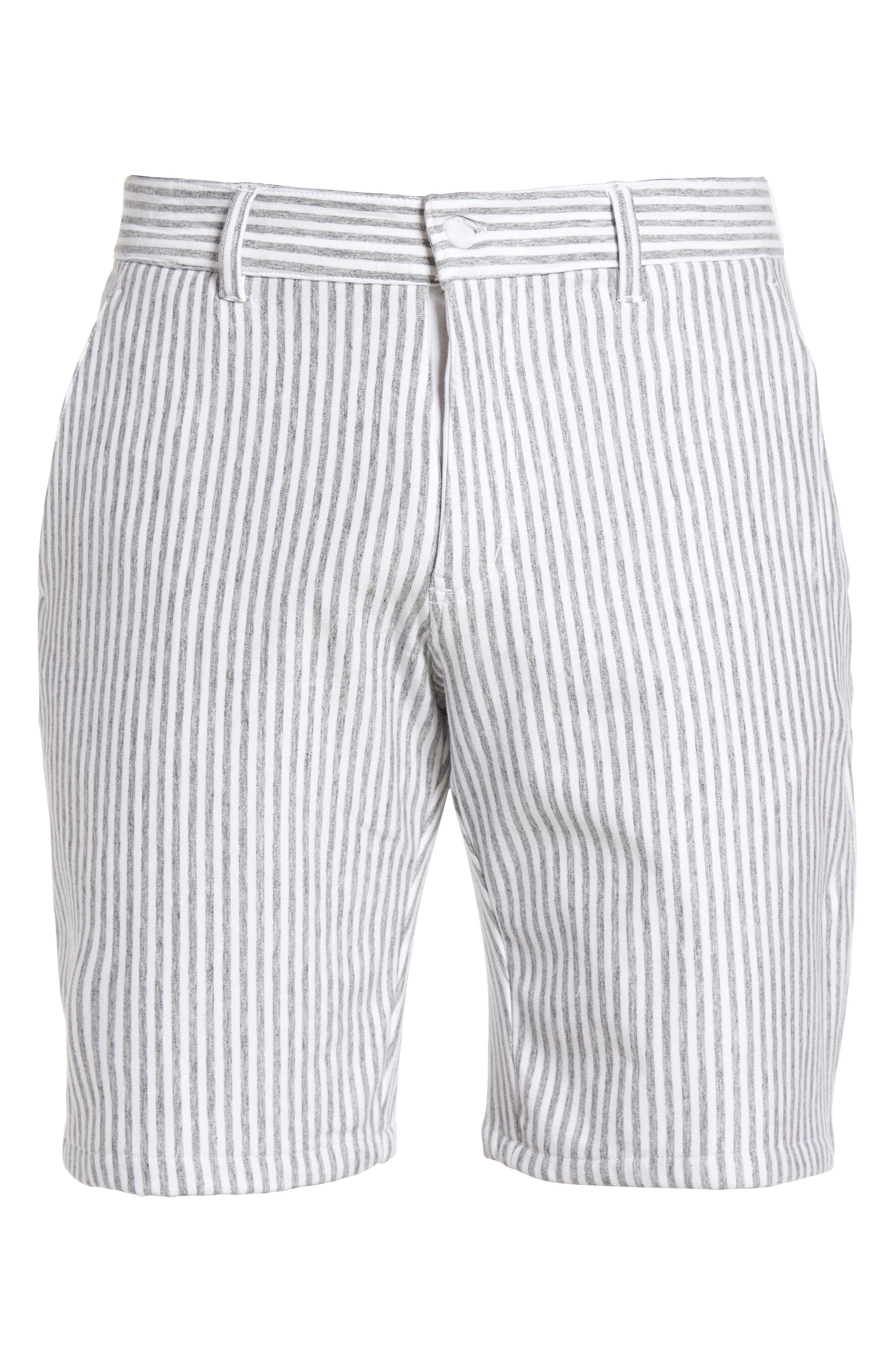 Alternate Image 5  - Slate & Stone Stripe French Terry Shorts