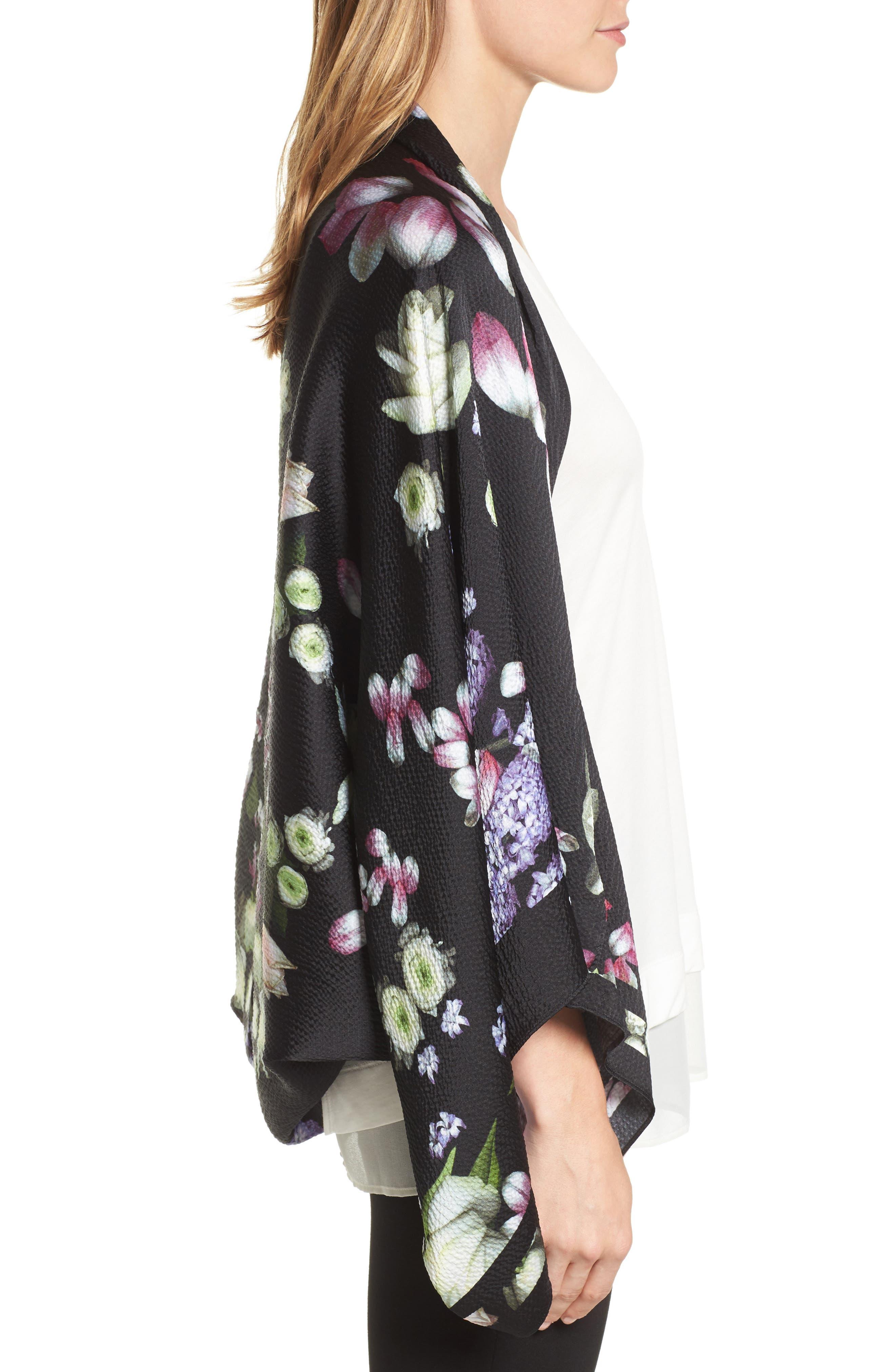 Alternate Image 3  - Ted Baker London Kensington Floral Silk Cape