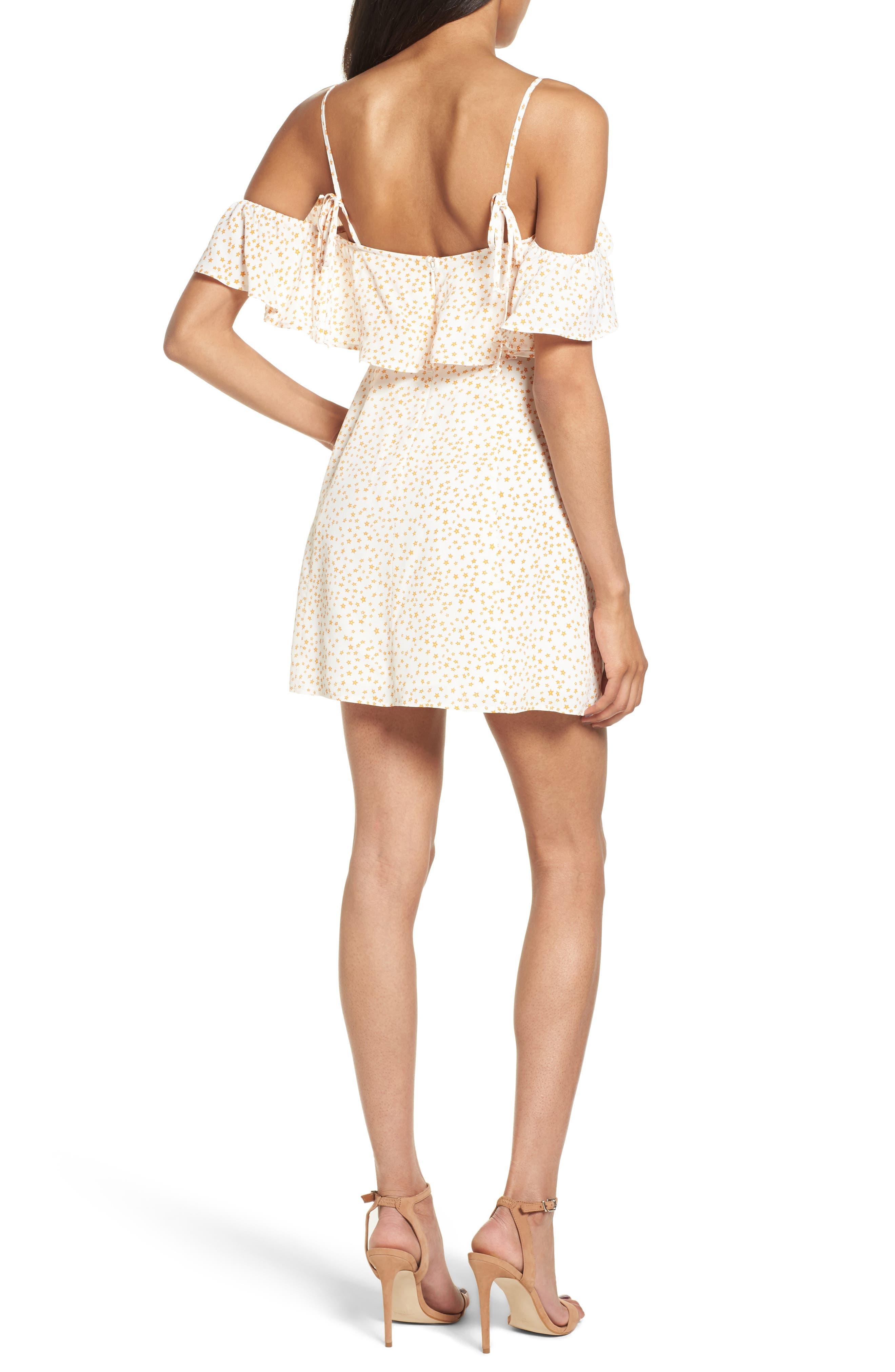 Alternate Image 2  - For Love & Lemons Aurora Ruffle Shift Dress