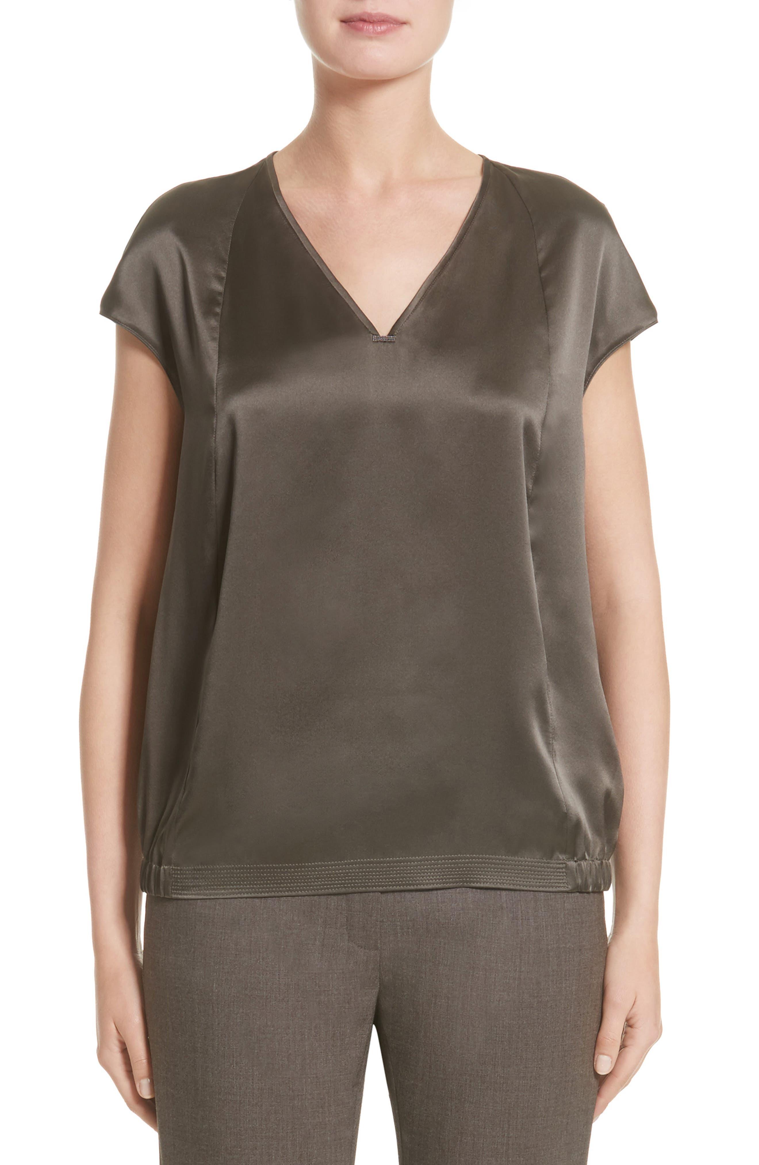 Lafayette 148 New York Aisley Luminous Cloth Blouse (Nordstrom Exclusive)