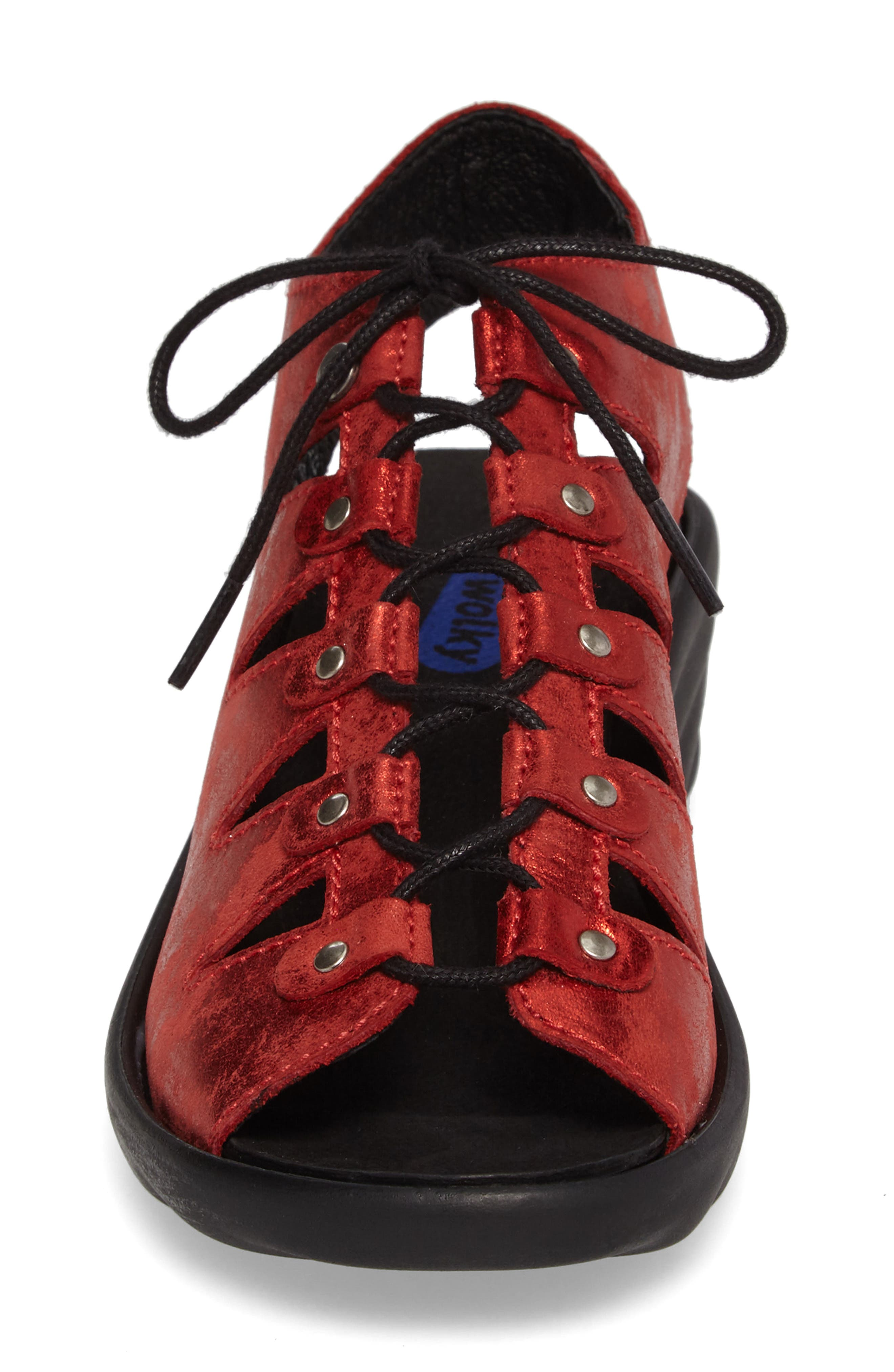 Arena Sandal,                             Alternate thumbnail 4, color,                             Red Nubuck Leather