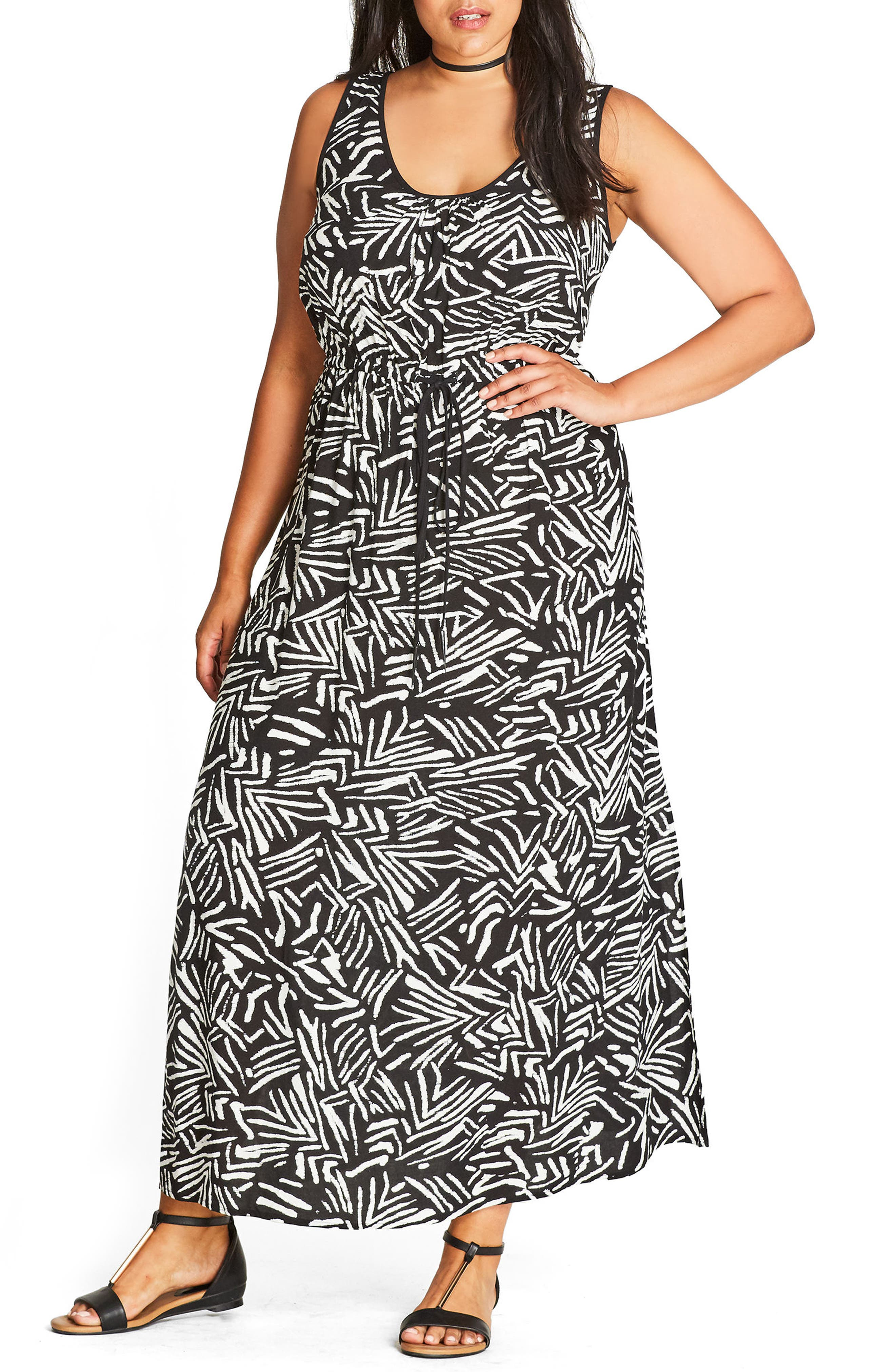 Alternate Image 1 Selected - City Chic Summer Party Maxi Dress (Plus Size)