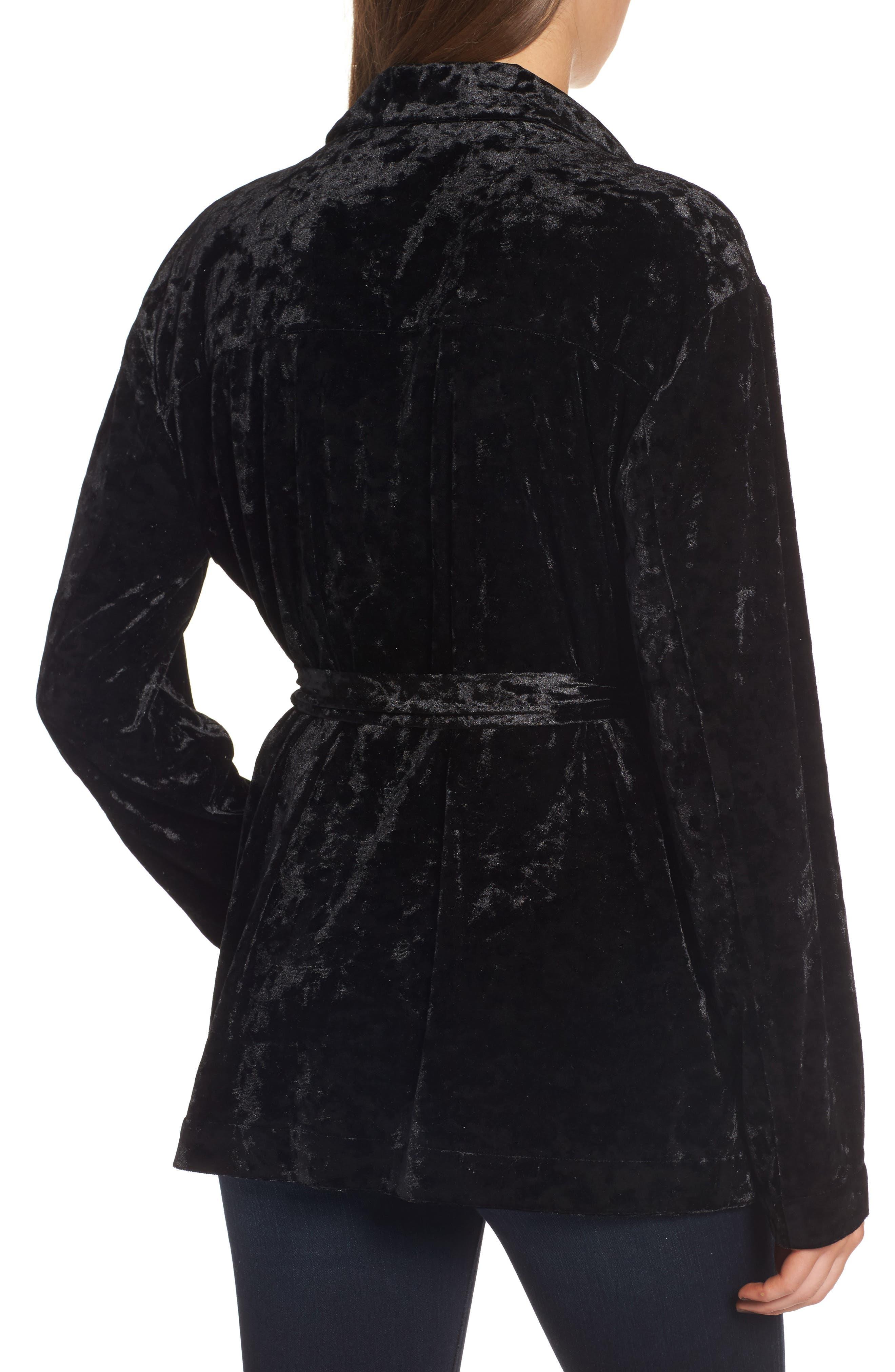 Alternate Image 2  - Chelsea28 Velvet Smoking Jacket