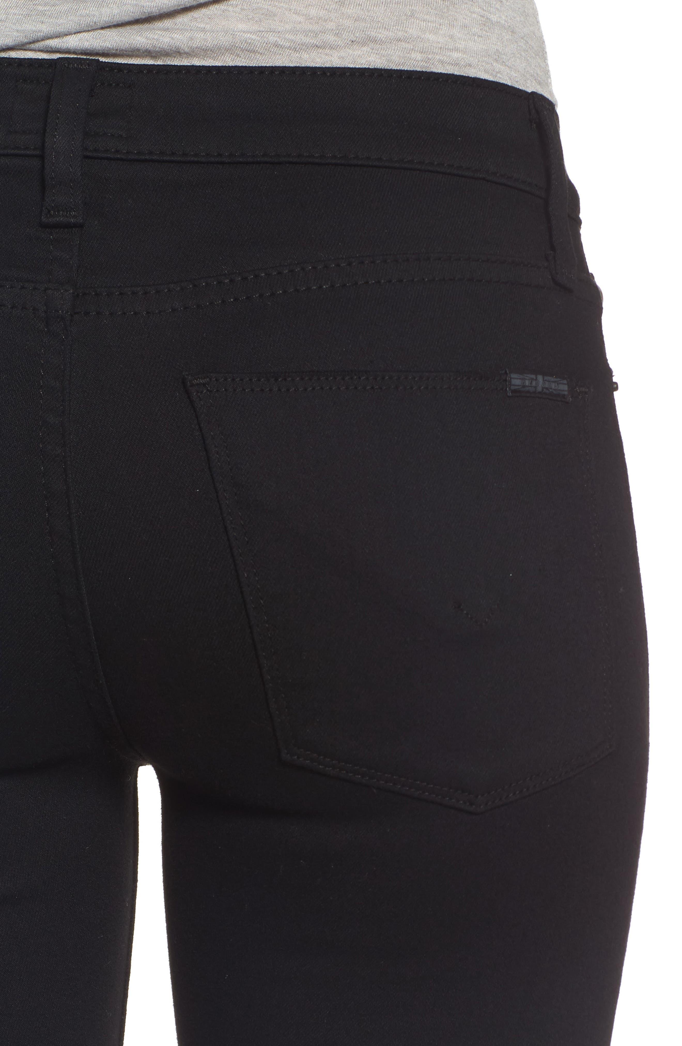 Alternate Image 4  - Hudson Jeans 'Elysian - Nico' Super Skinny Jeans (Destructed Black) (Nordstrom Exclusive)