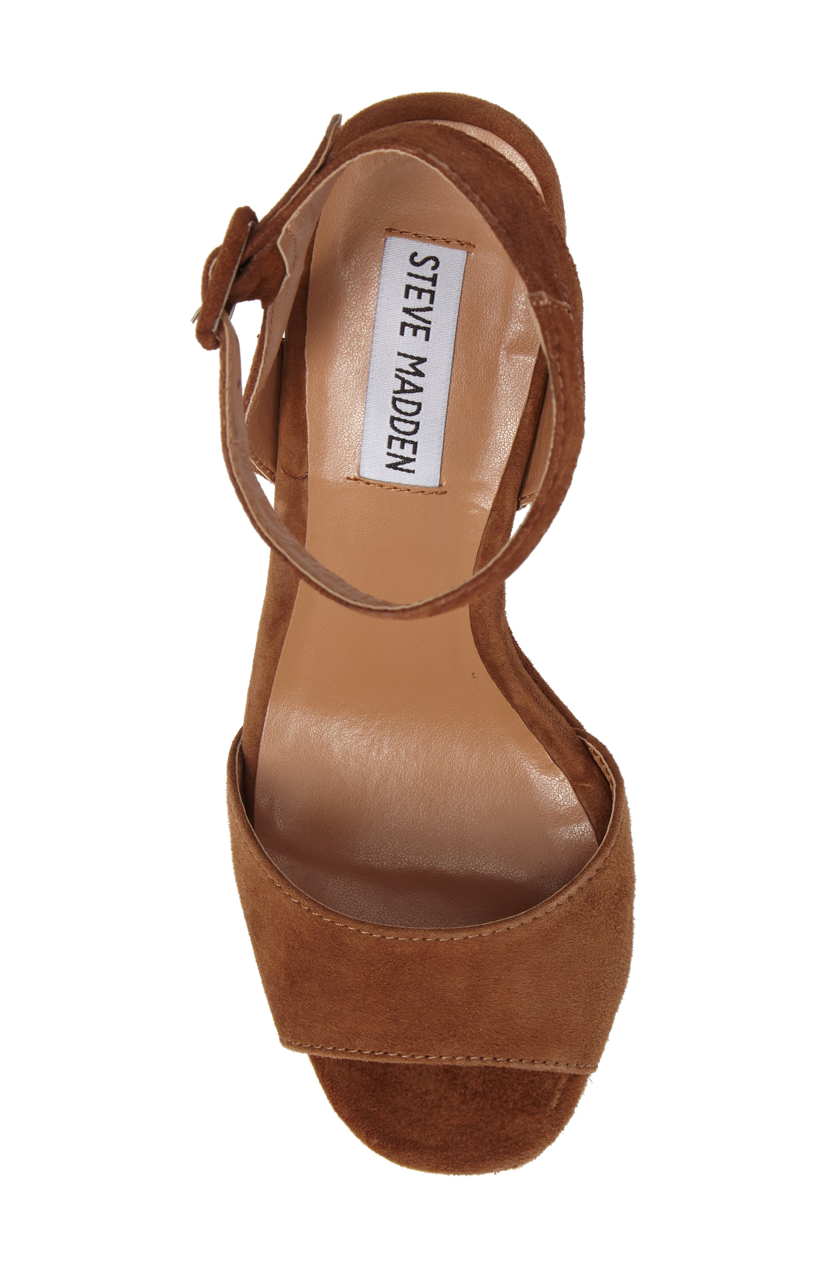 Verdict Platform Sandal,                             Alternate thumbnail 5, color,                             Cognac Suede