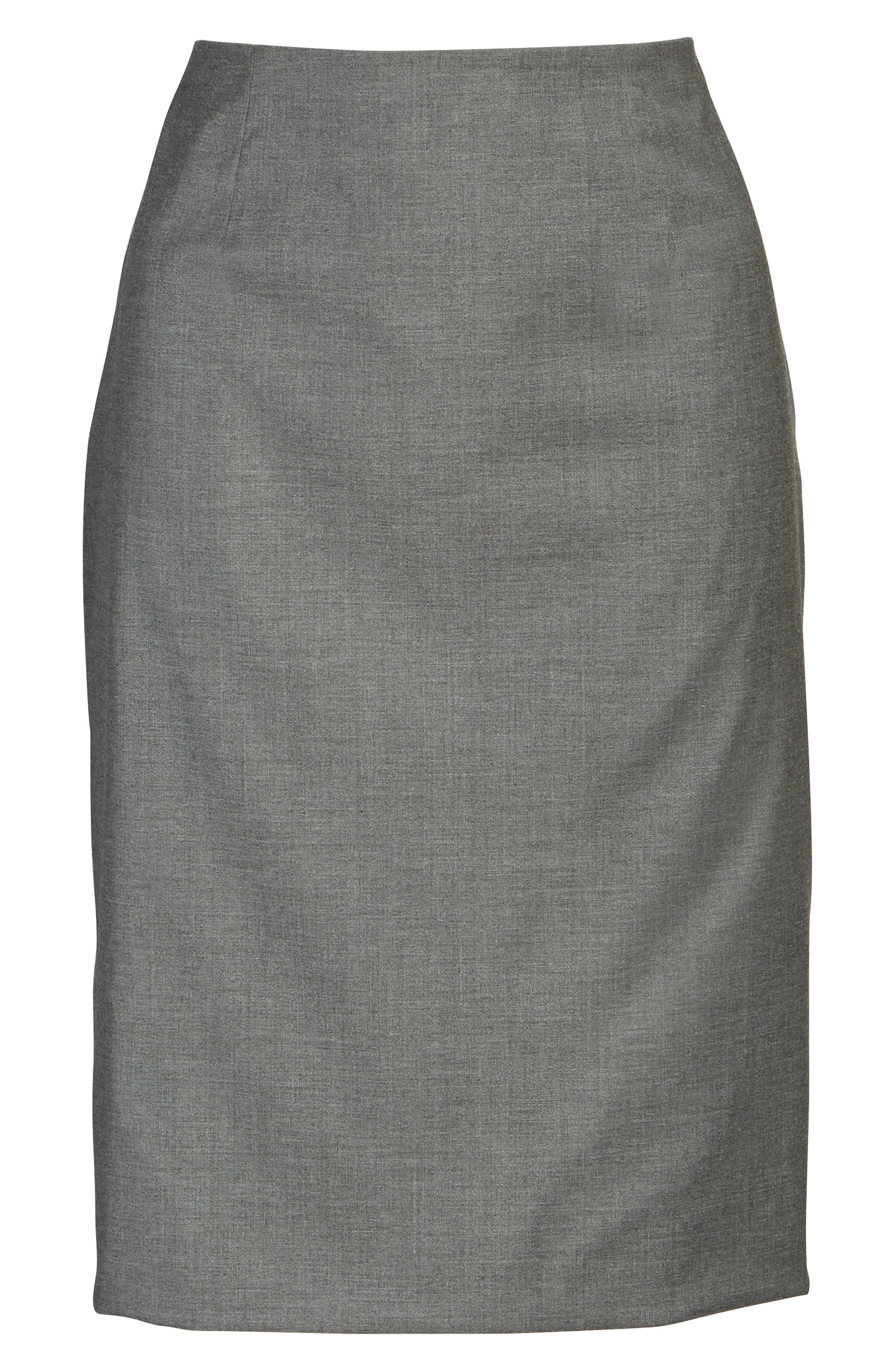 Alternate Image 7  - BOSS Vileana Wool Blend Suit Skirt