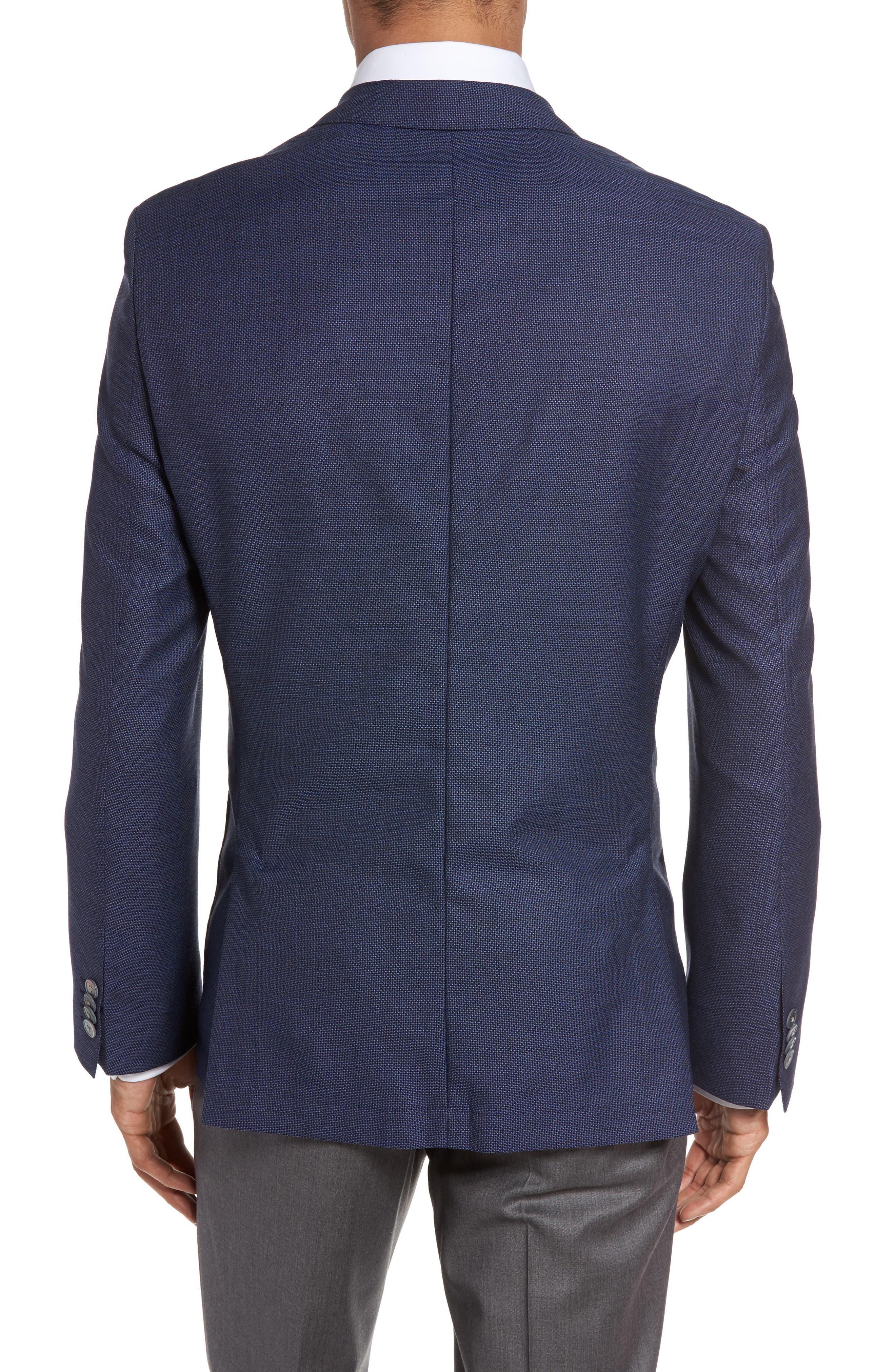 Alternate Image 2  - BOSS Janson Trim Fit Textured Wool Sport Coat