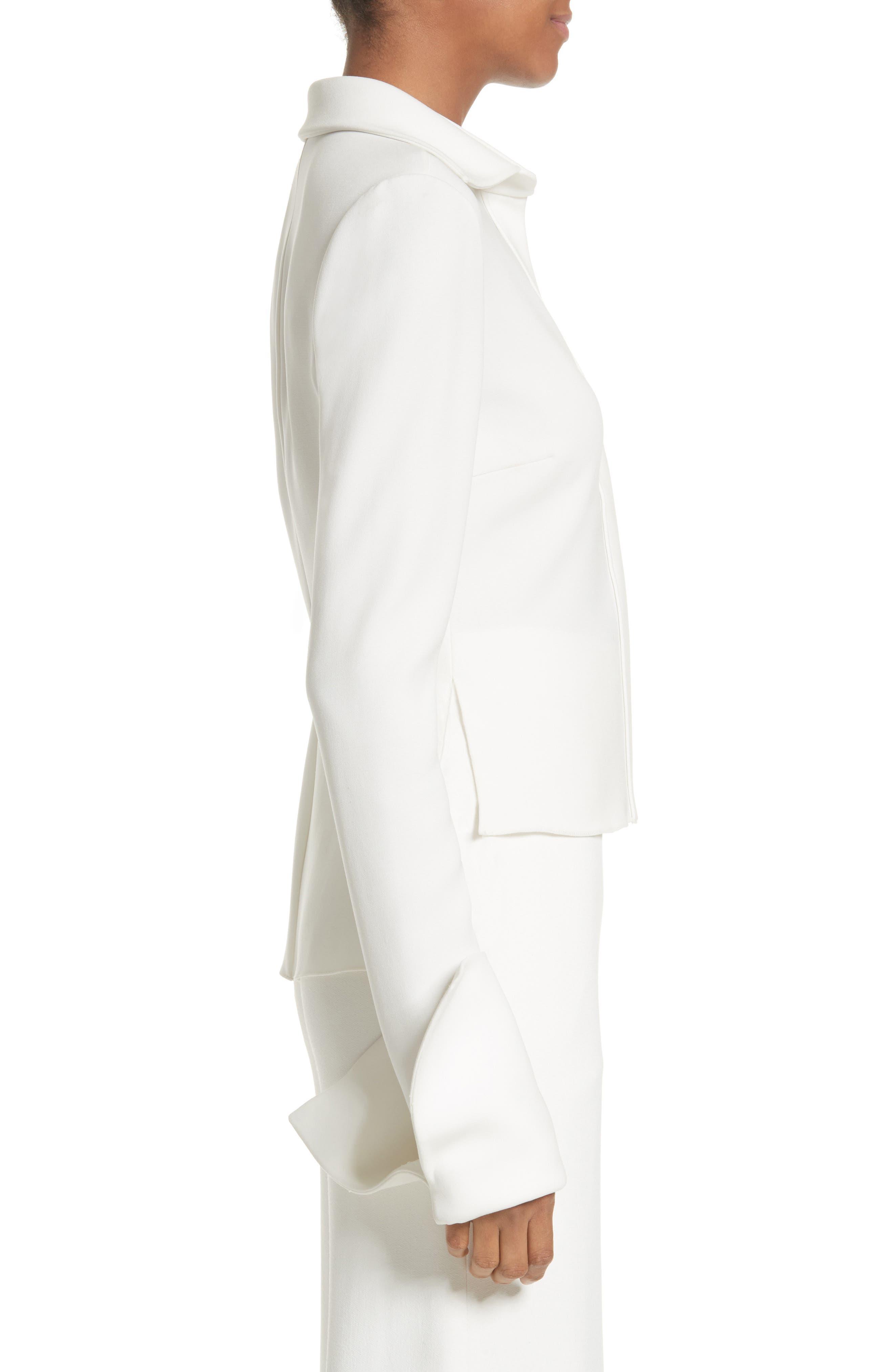 Alternate Image 3  - Brandon Maxwell Wide Cuff Crepe Blouse