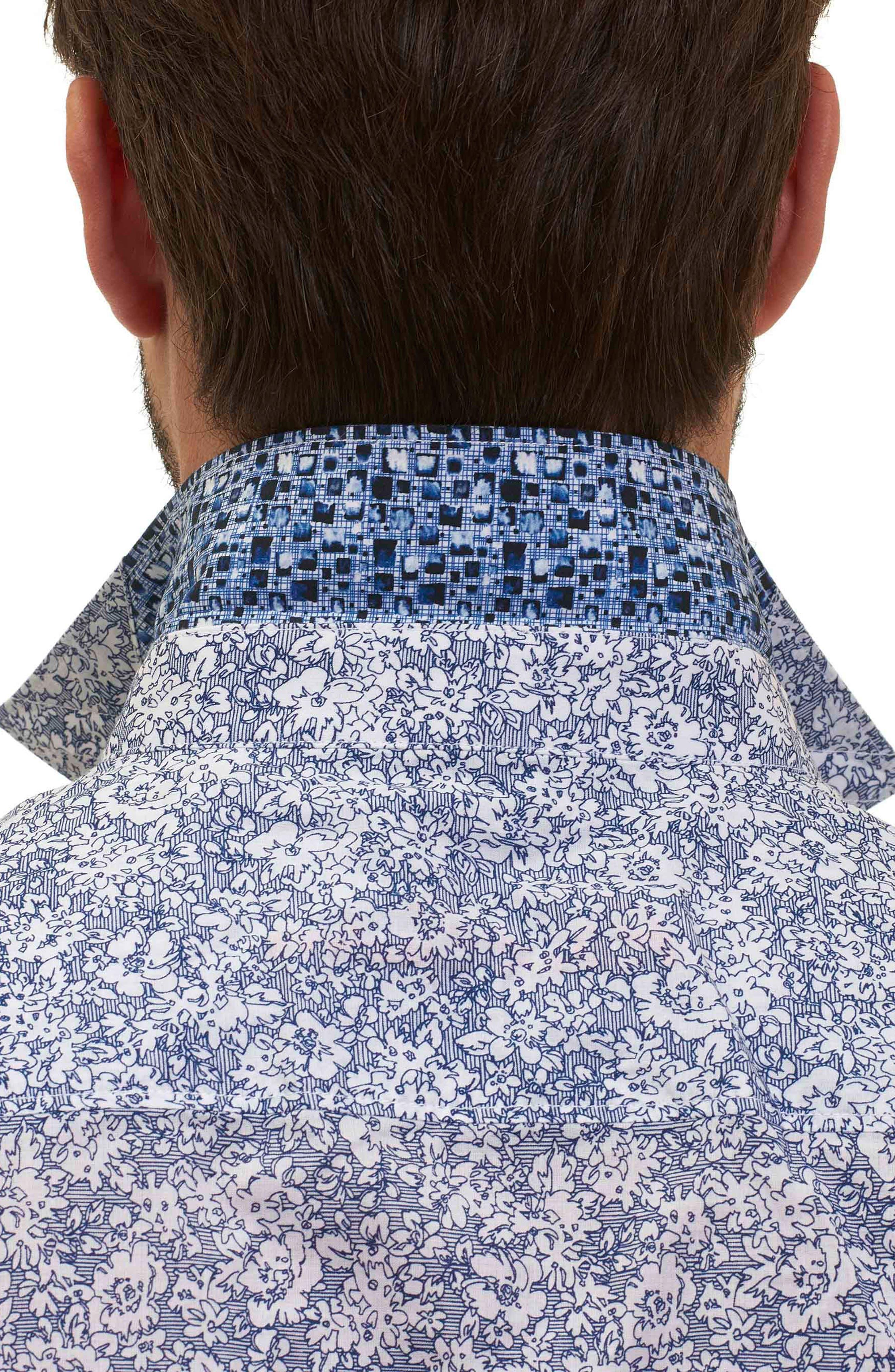 Alternate Image 6  - Robert Graham Moss Landing Classic Fit Floral Print Sport Shirt