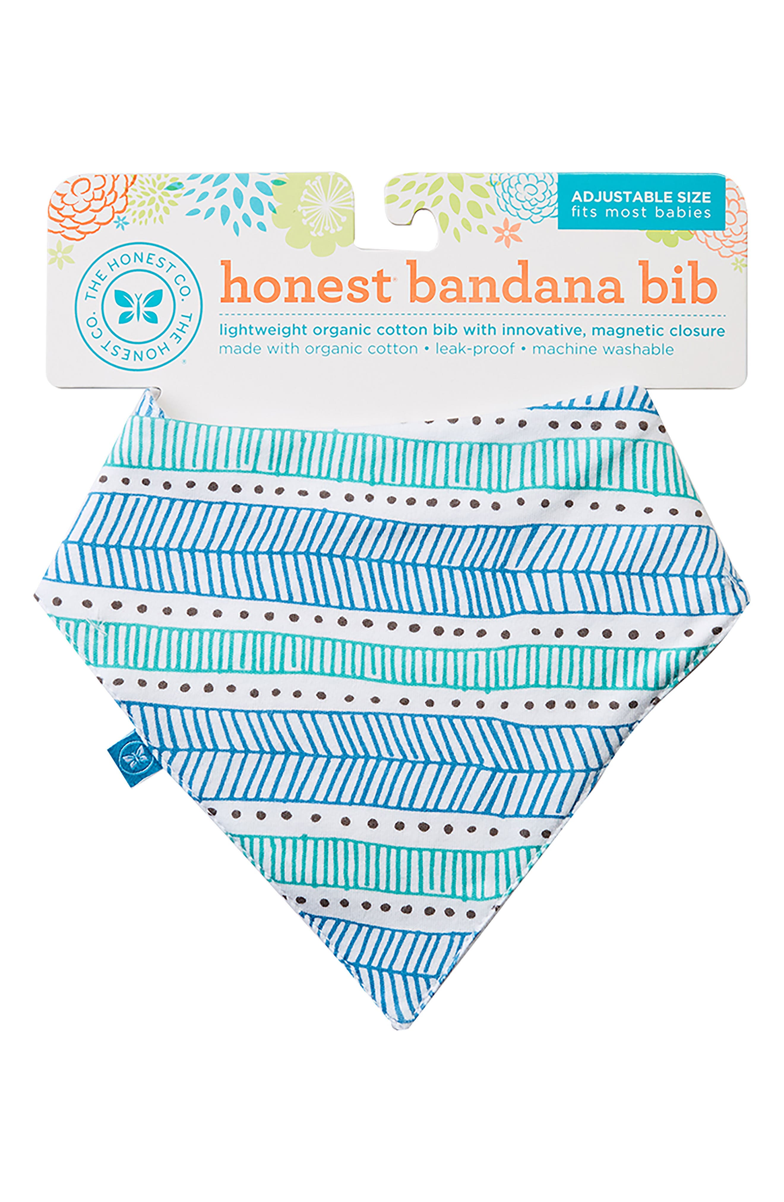 Organic Cotton Bandana Bib,                             Main thumbnail 1, color,                             Teal