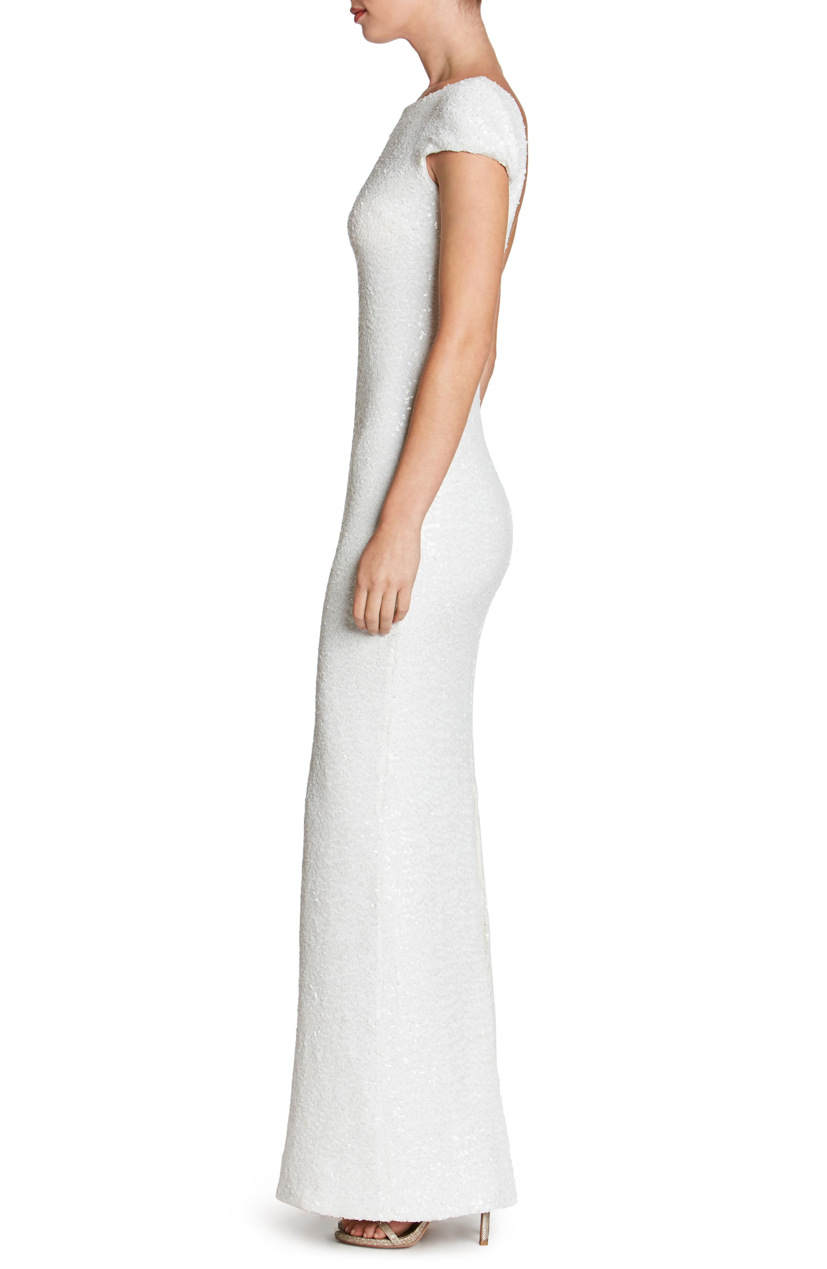 Alternate Image 3  - Dress the Population Teresa Body-Con Gown (Nordstrom Exclusive)