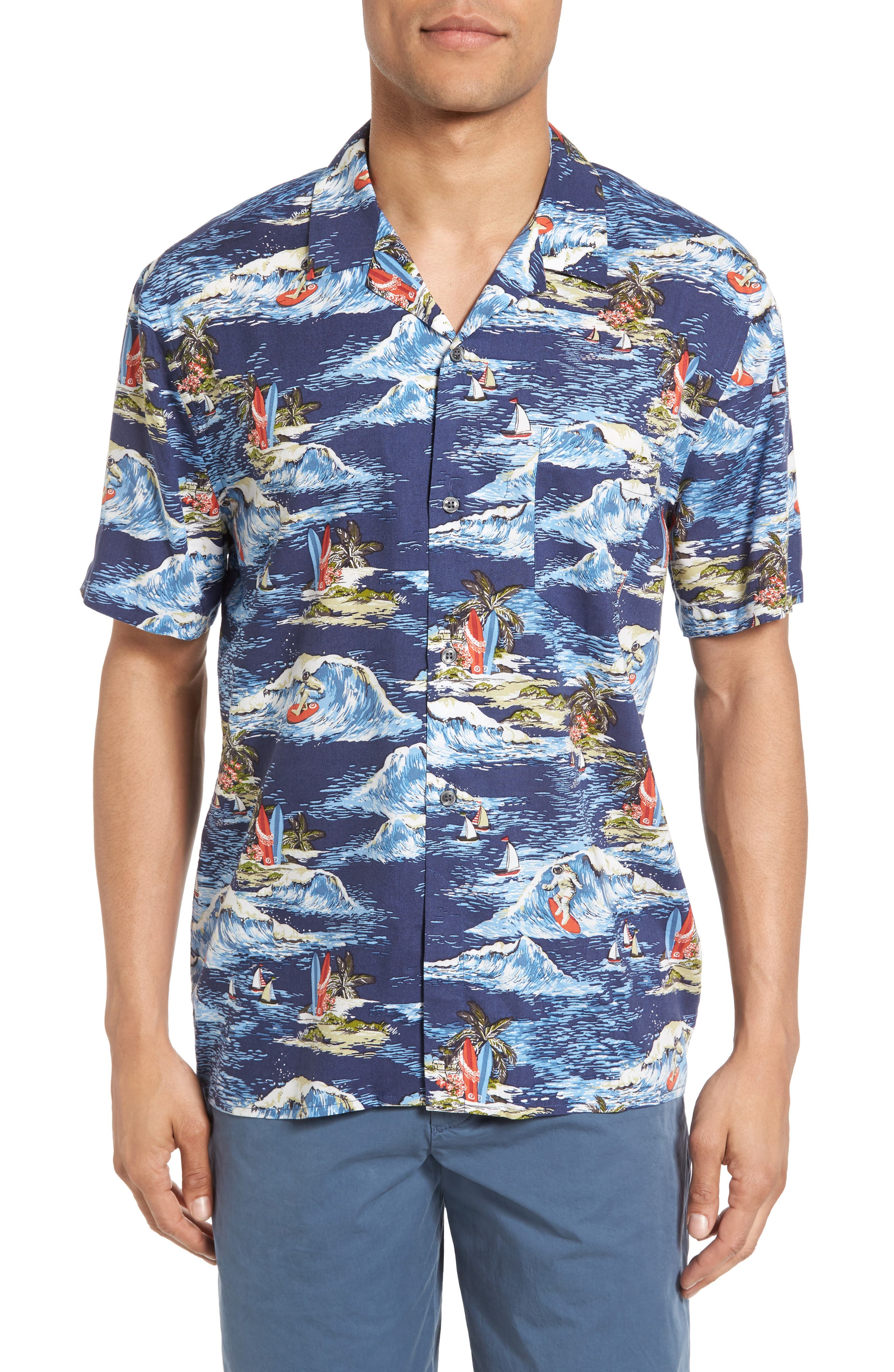 French Connection Surf Odyssey Regular Fit Sport Shirt