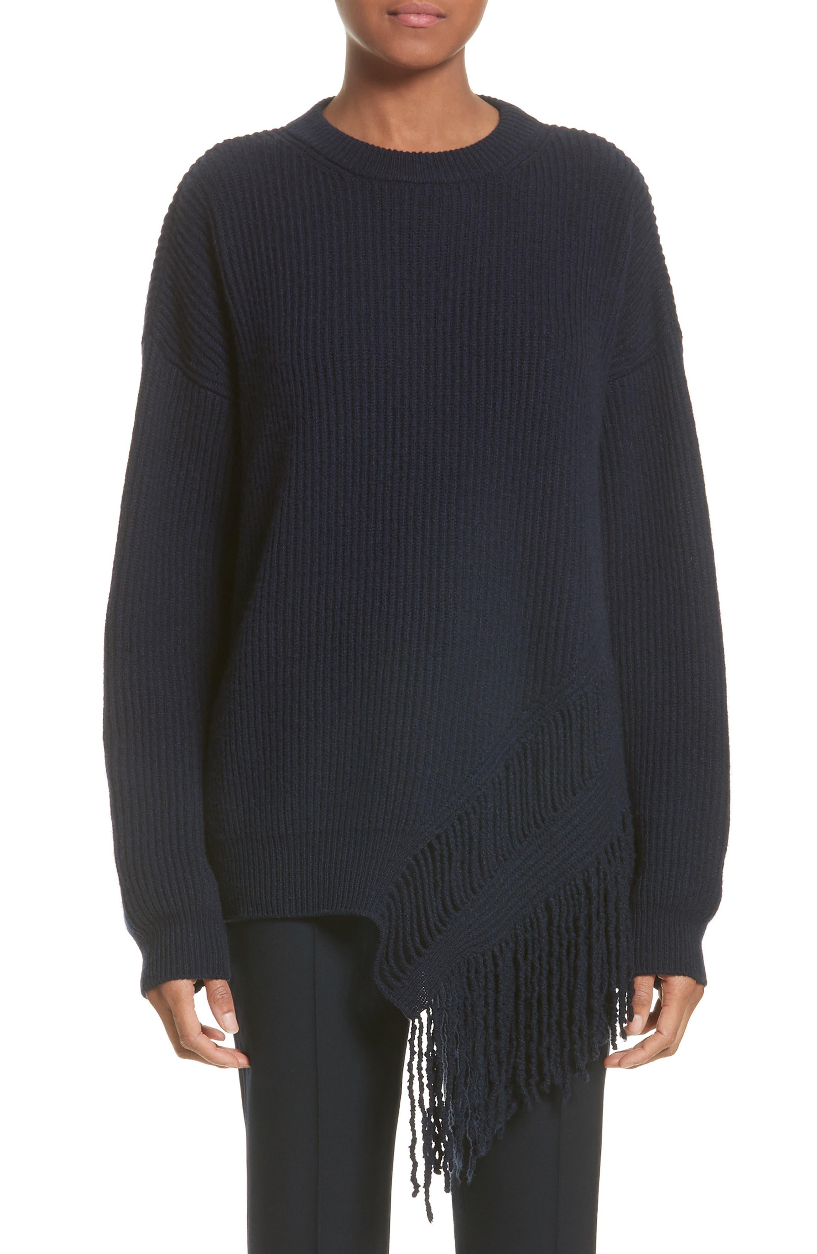 Stella McCartney Cashmere & Wool Fringe Sweater