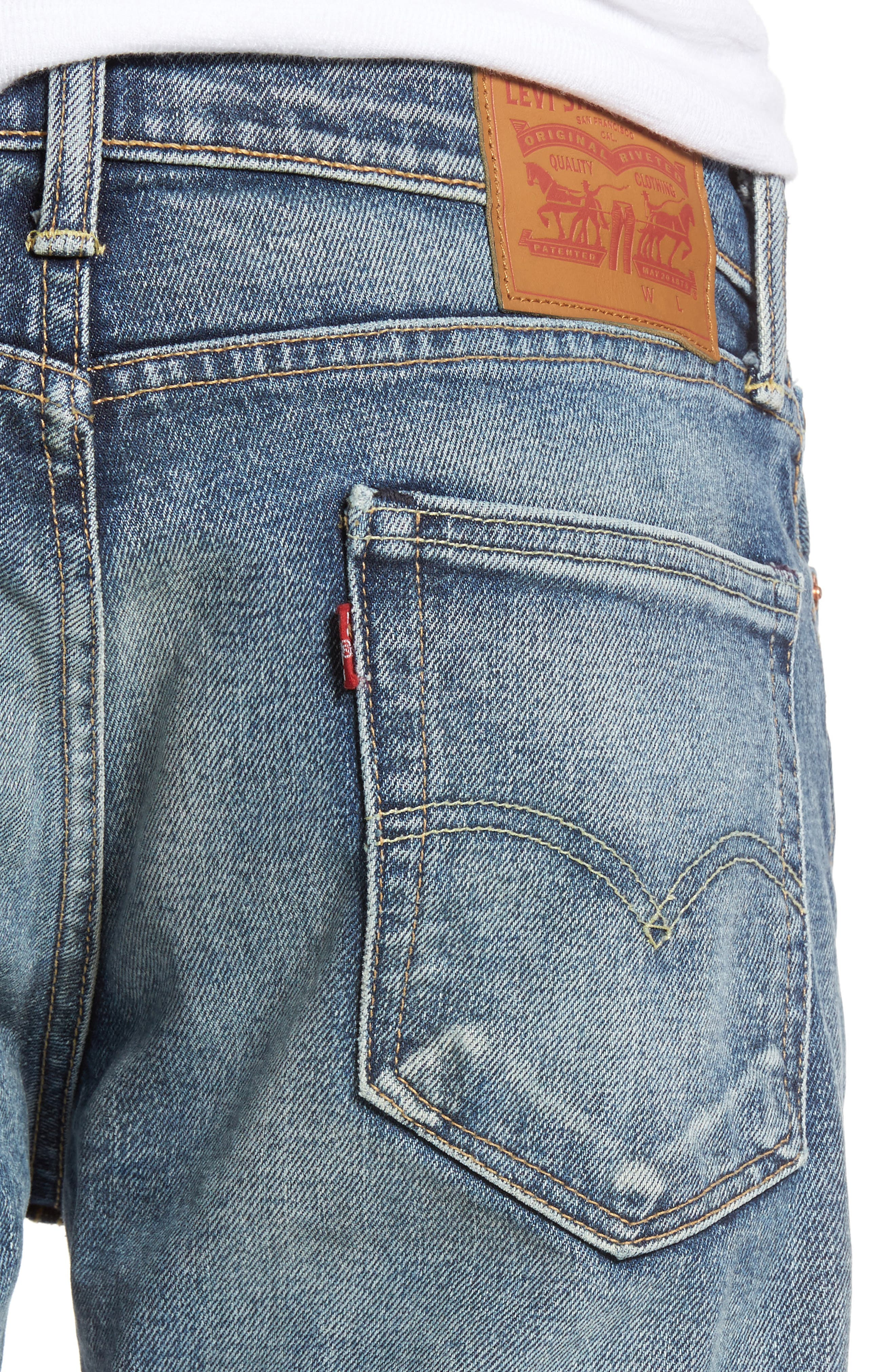 Alternate Image 4  - Levi's® 513™ Slim Straight Leg Jeans (Danz)