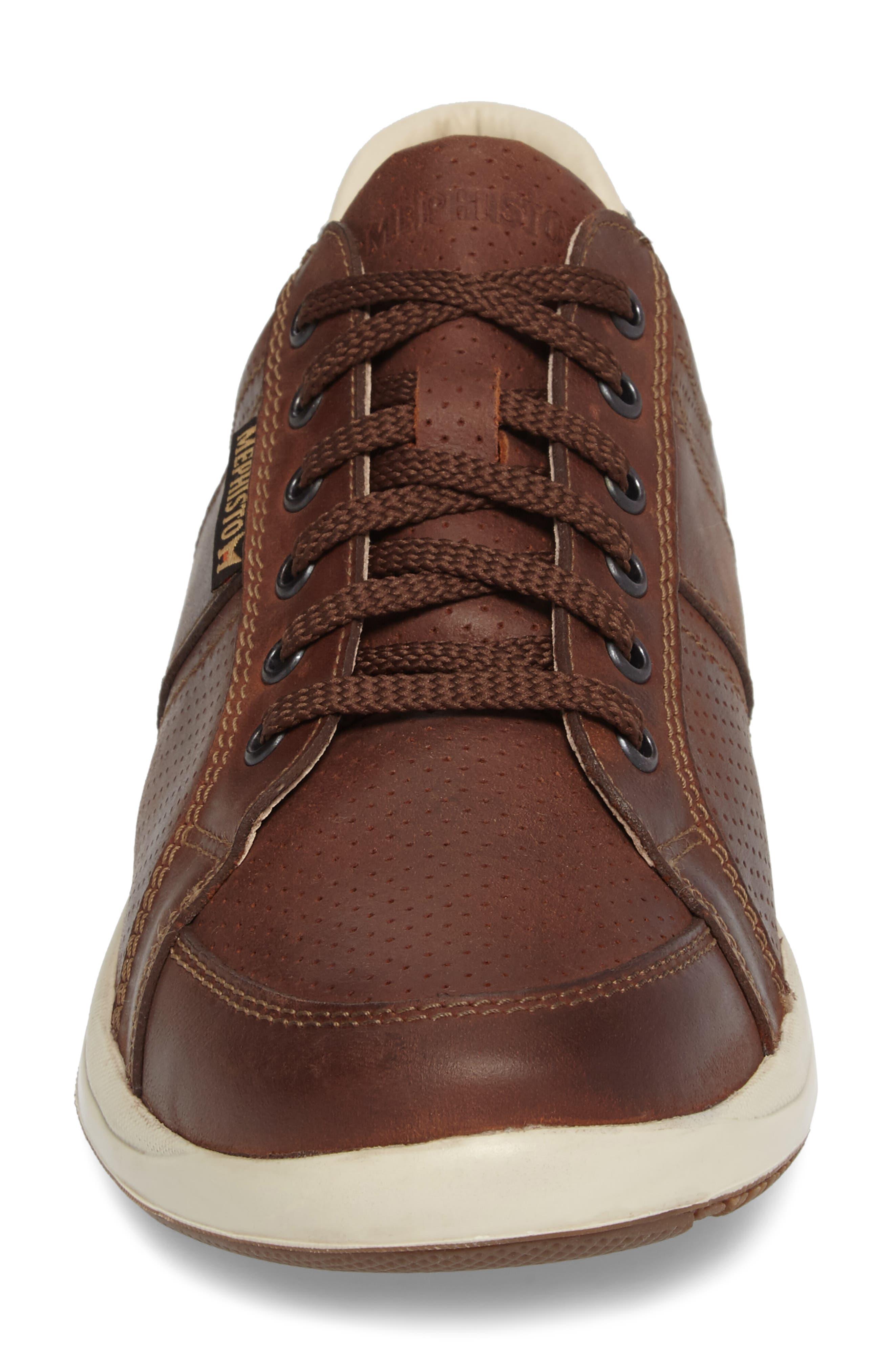 'Hero' Perforated Sneaker,                             Alternate thumbnail 5, color,                             Chestnut Nubuck Leather