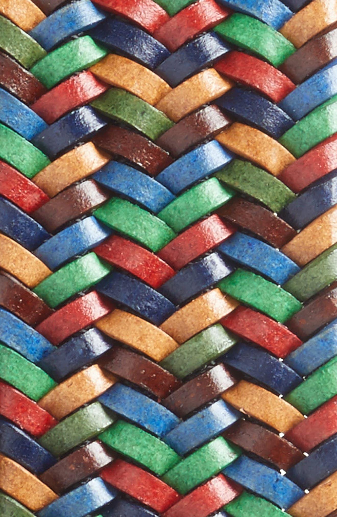 Alternate Image 2  - Torino Belts Woven Belt