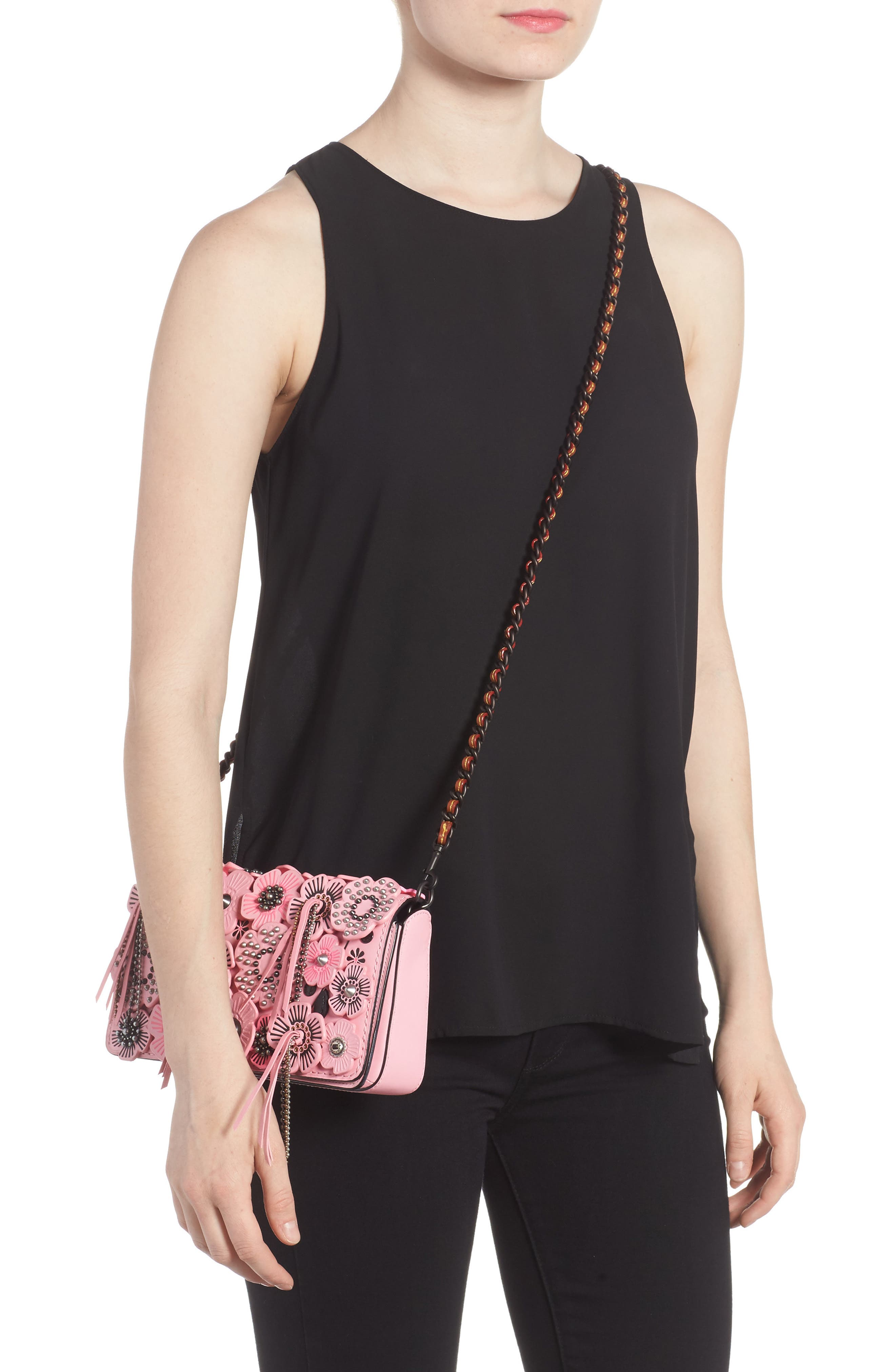 Alternate Image 2  - COACH 1941 Wild Tea Rose Dinky Leather Crossbody Bag