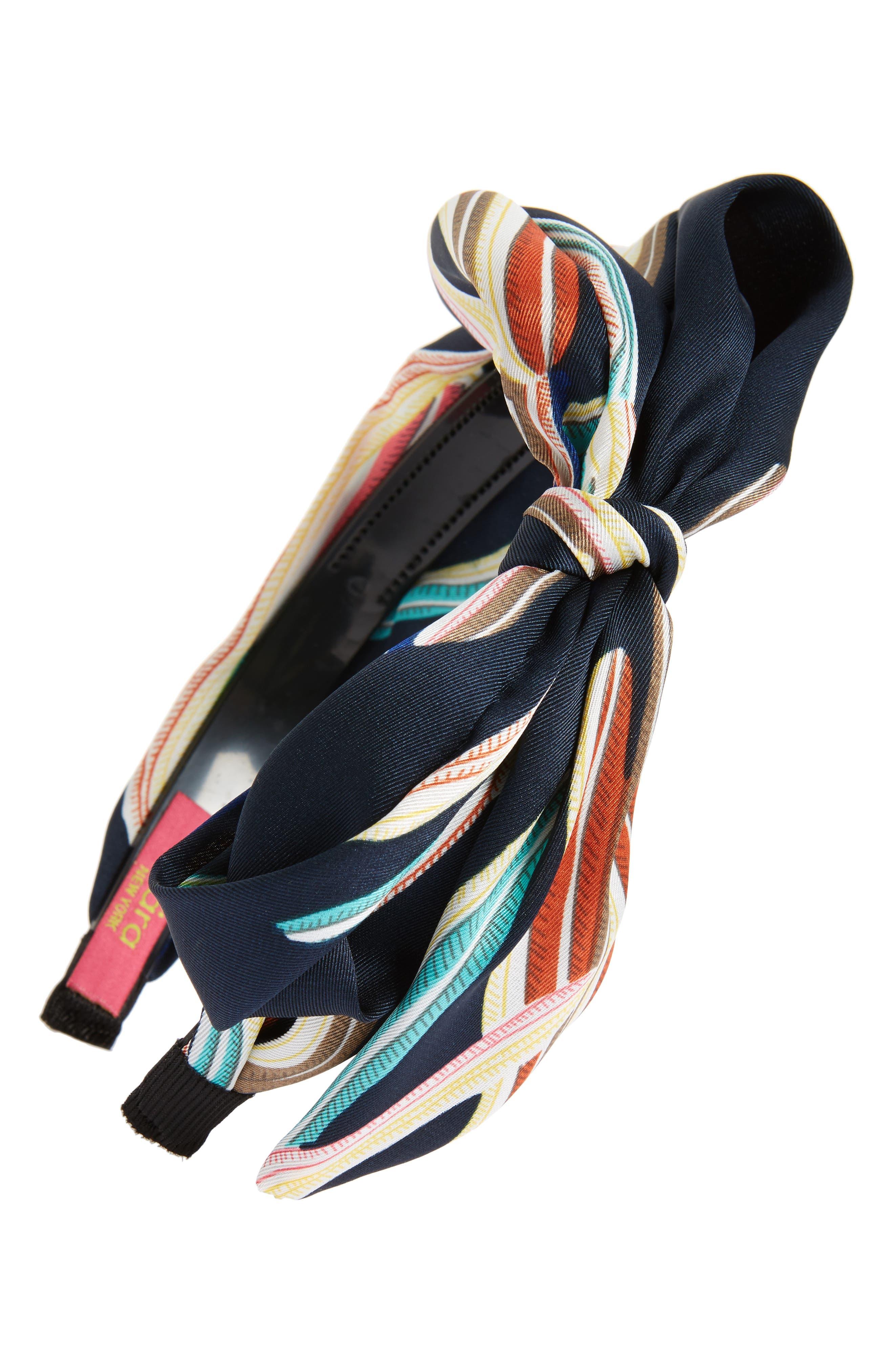 Main Image - Cara Stripe Knot Headband