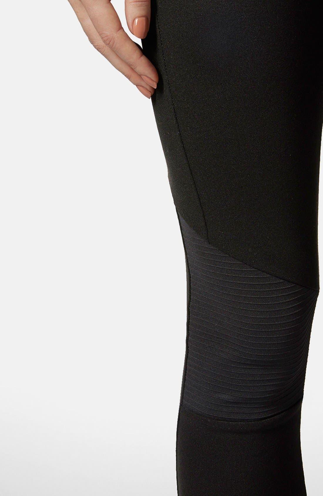Alternate Image 4  - Topshop Biker Knee Ponte Leggings