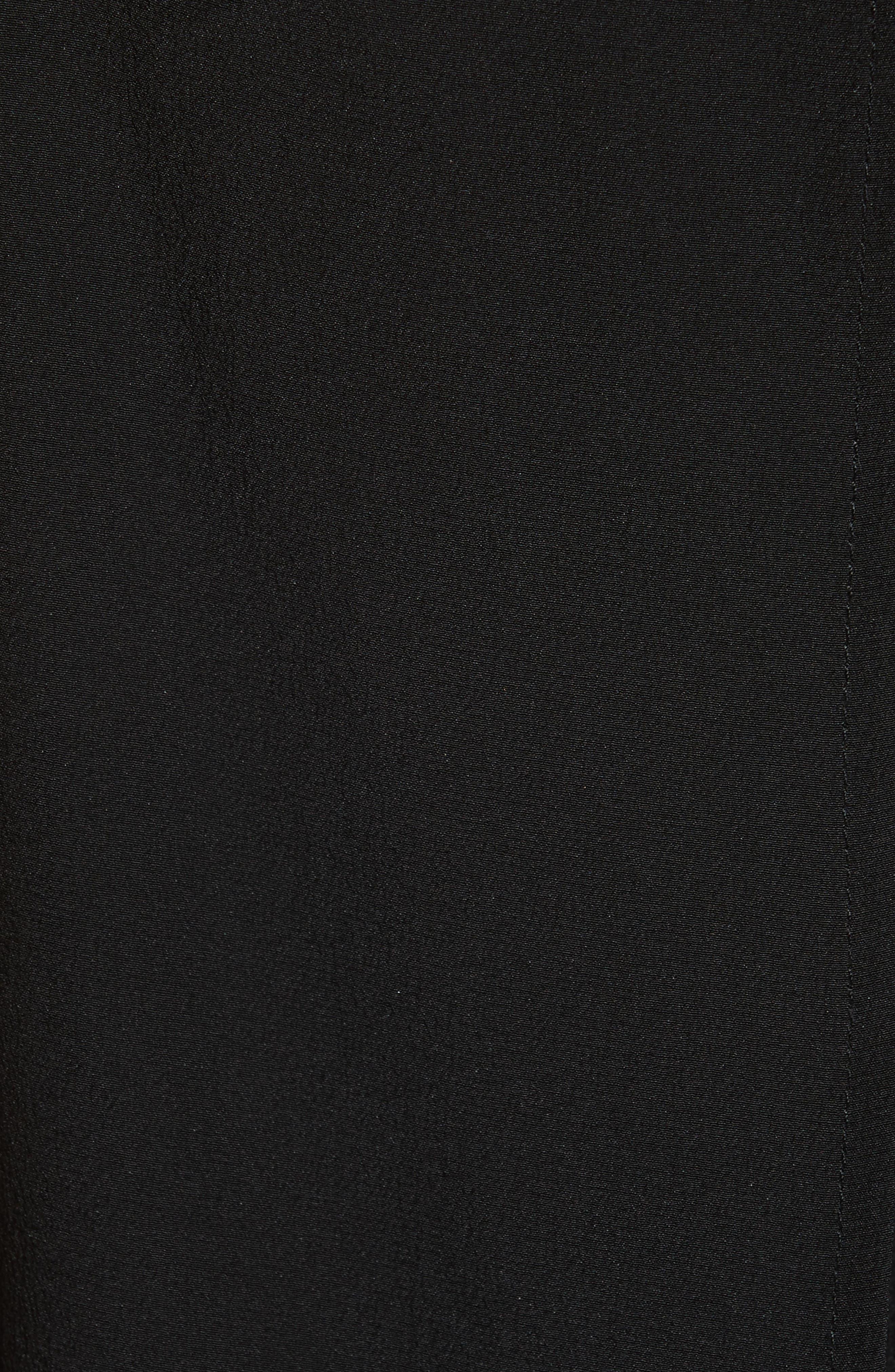 Silk Popover Jumpsuit,                             Alternate thumbnail 5, color,                             Black