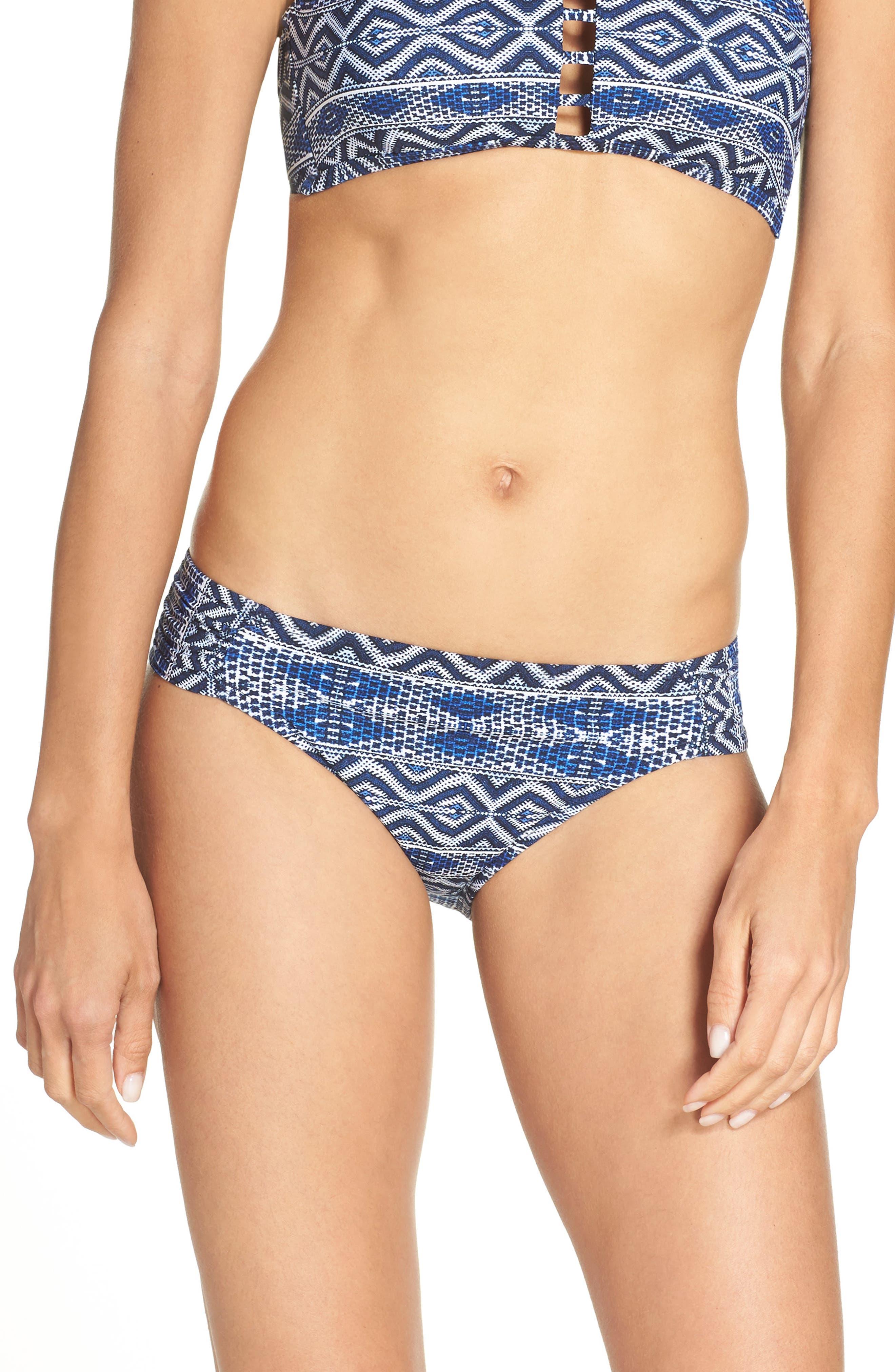Designer Jeans Hipster Bikini Bottoms,                         Main,                         color, Indigo