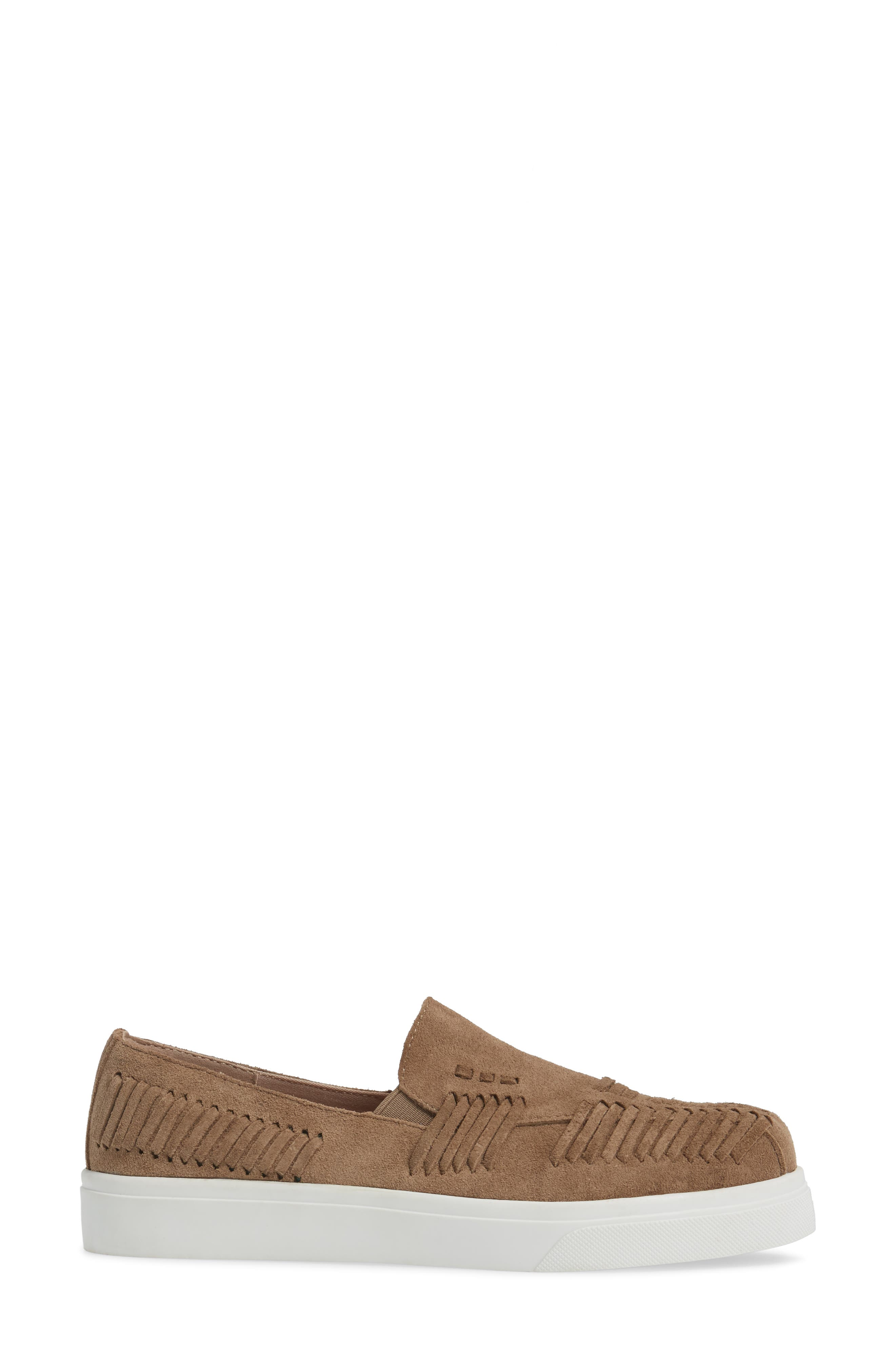 Rocco Woven Slip-On Sneaker,                             Alternate thumbnail 3, color,                             Taupe Suede