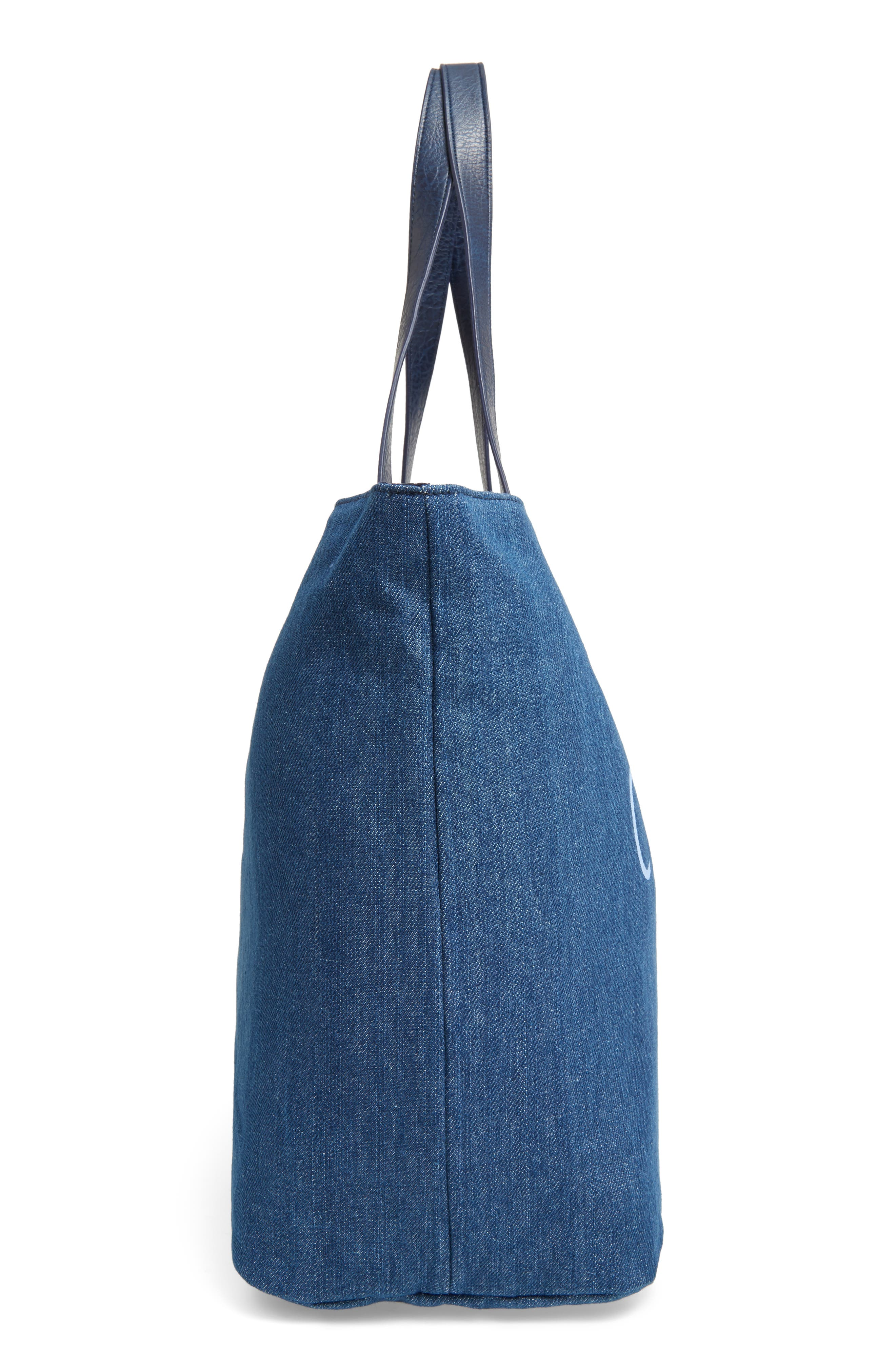 Alternate Image 3  - BP. Faux Leather Trim Canvas Tote