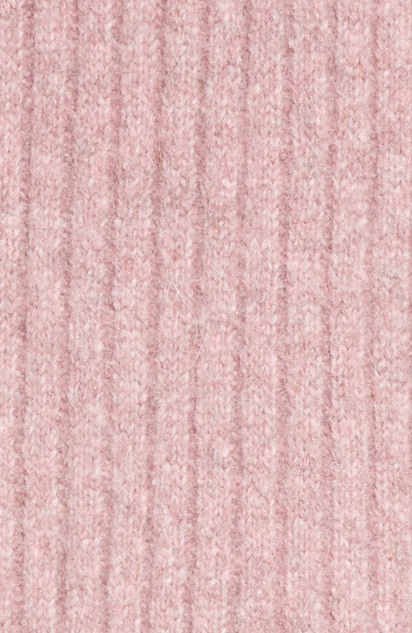 Fringed Alpaca Blend Scarf,                             Alternate thumbnail 2, color,                             Dusty Pink