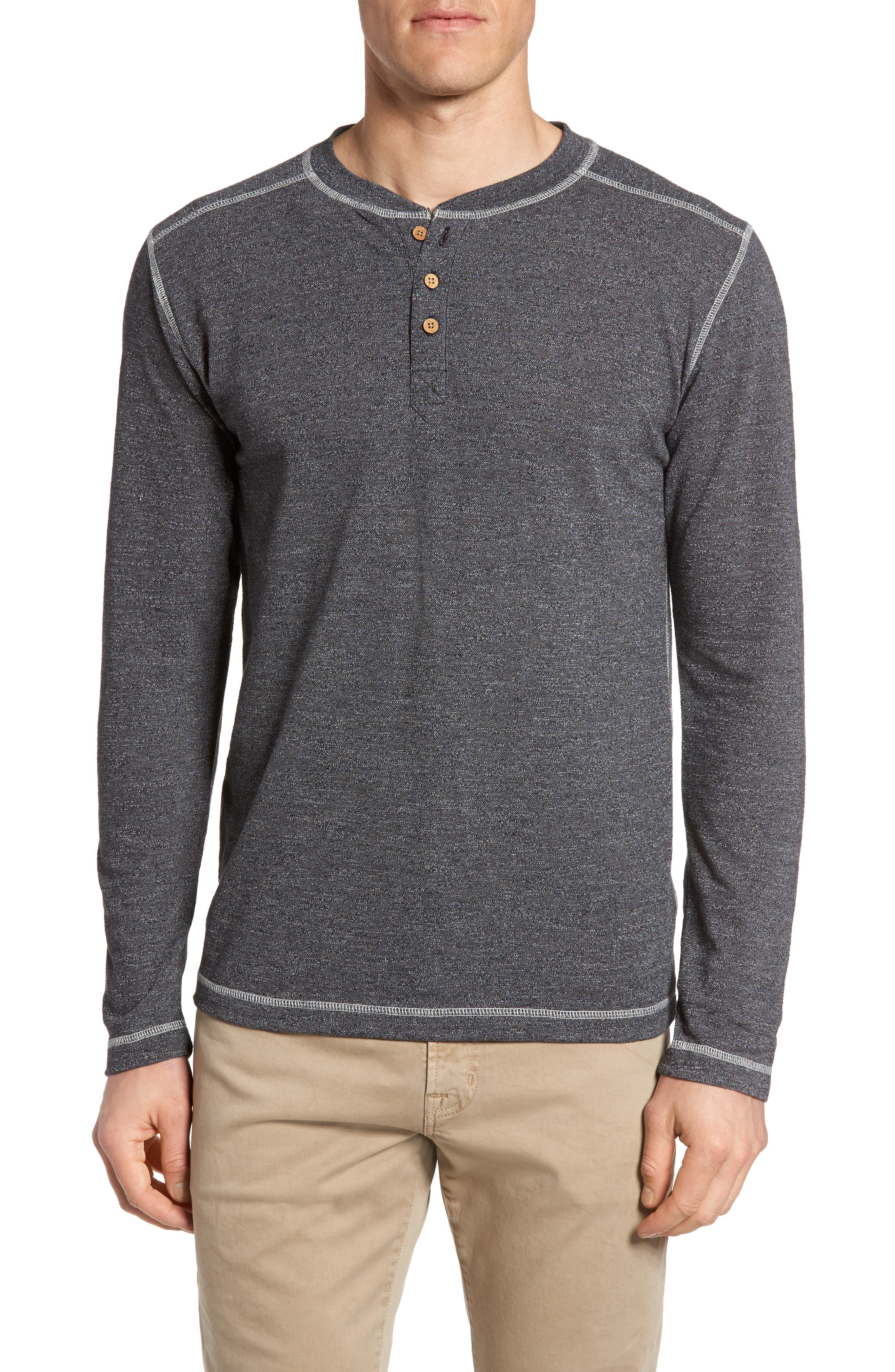 Marl French Terry Henley,                         Main,                         color, Black