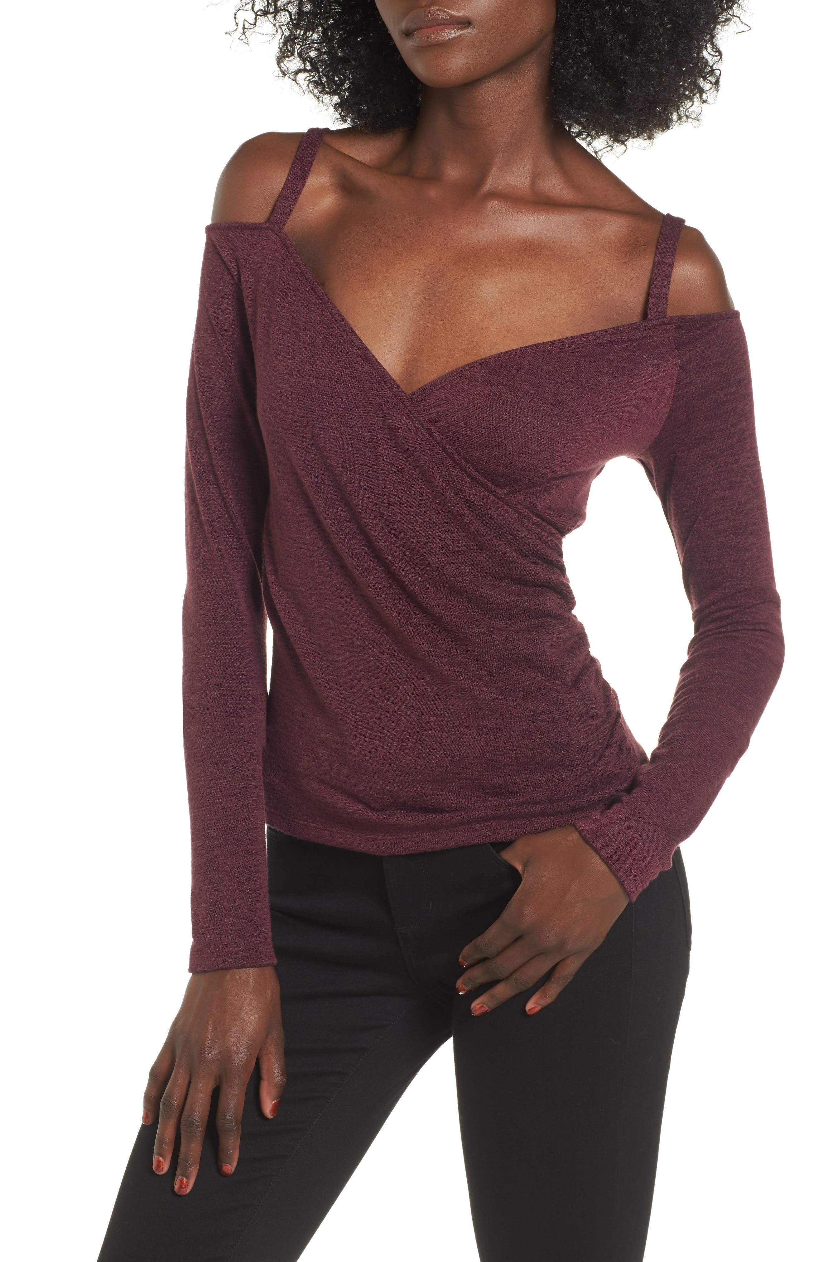 Leith Wrap Front Off the Shoulder Top