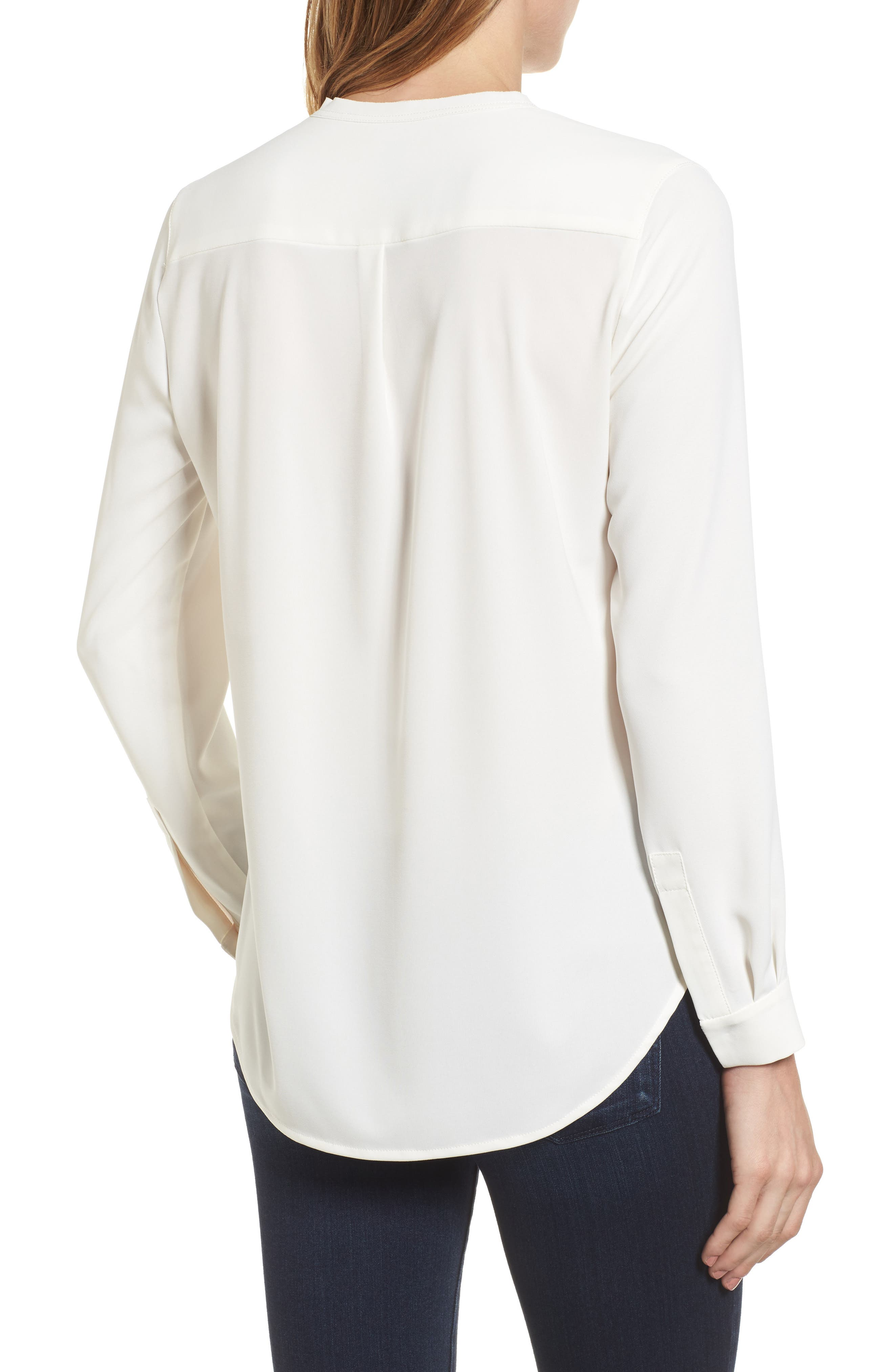 Alternate Image 2  - Anne Klein Mix Media Blouse