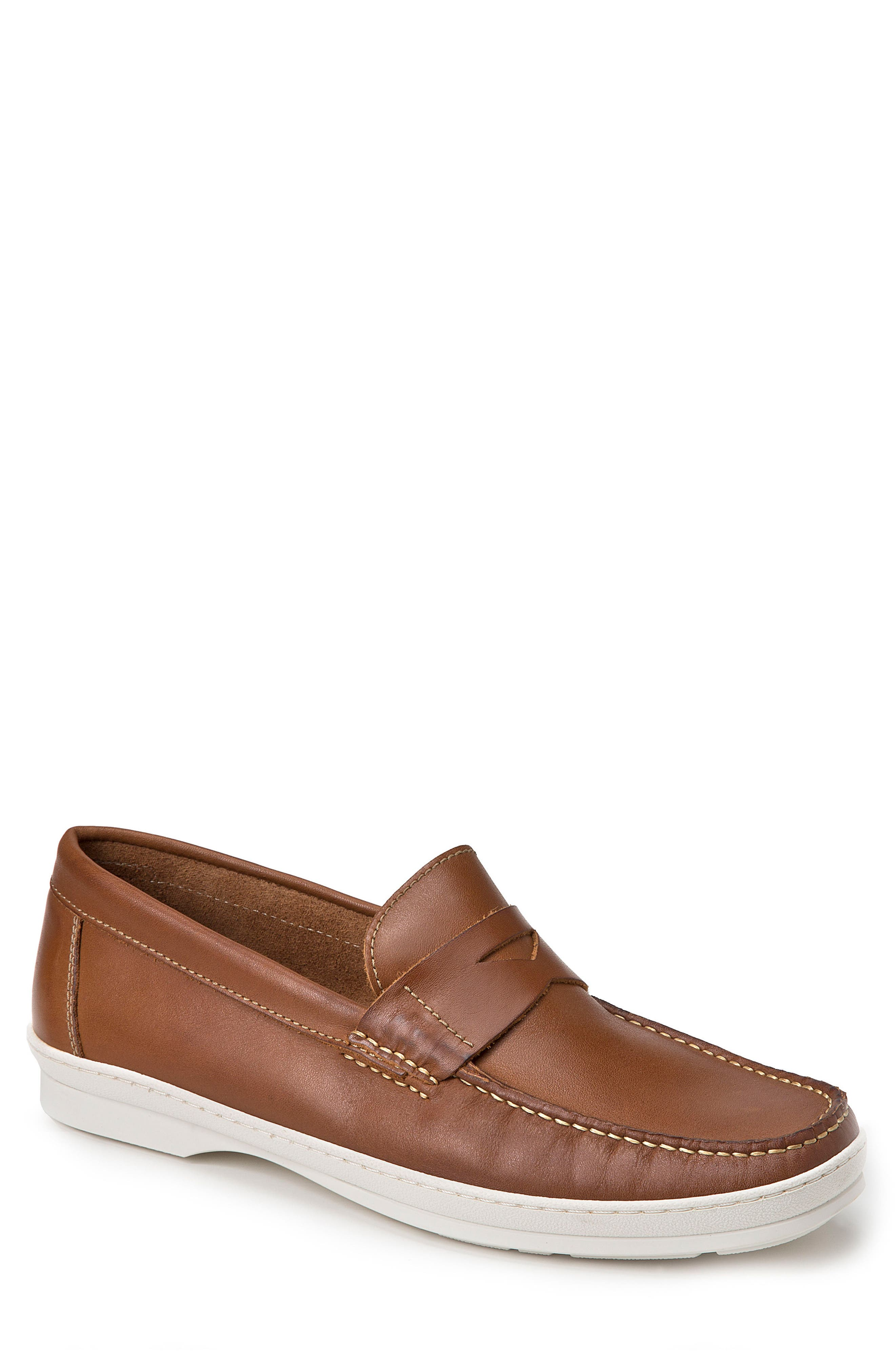 Simon Penny Loafer,                         Main,                         color, Tan Leather