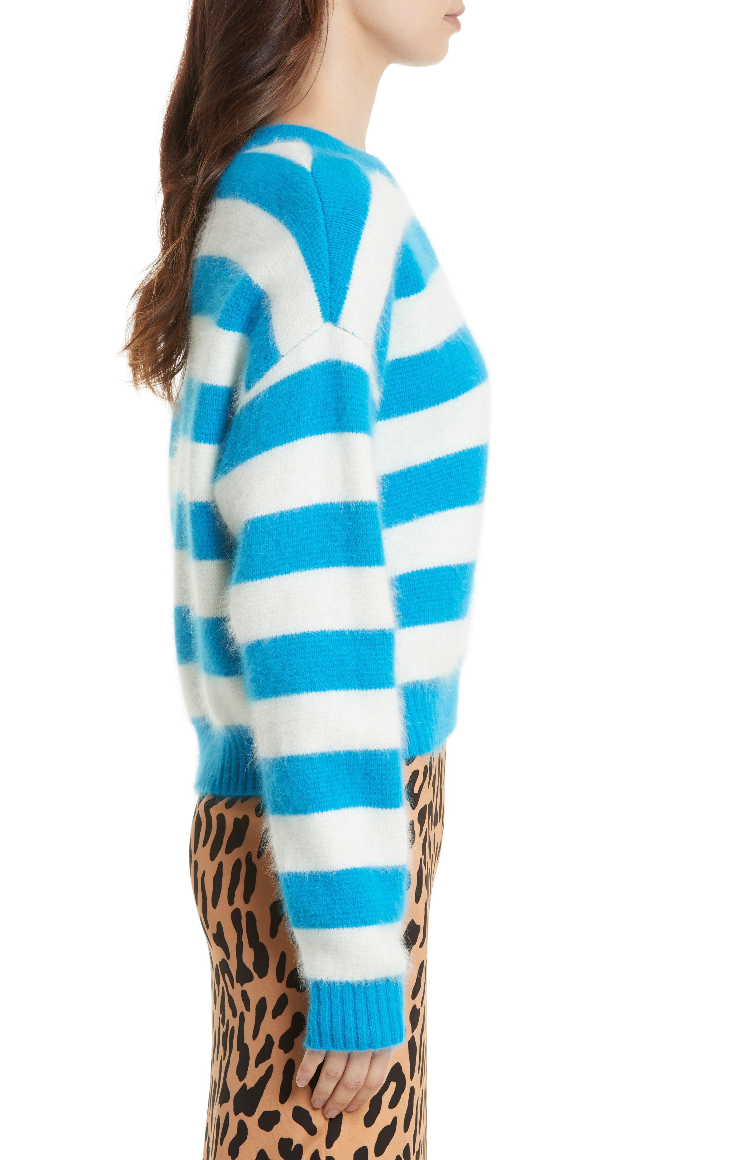 Alternate Image 4  - Diane von Furstenberg Stripe Baseball Sweater