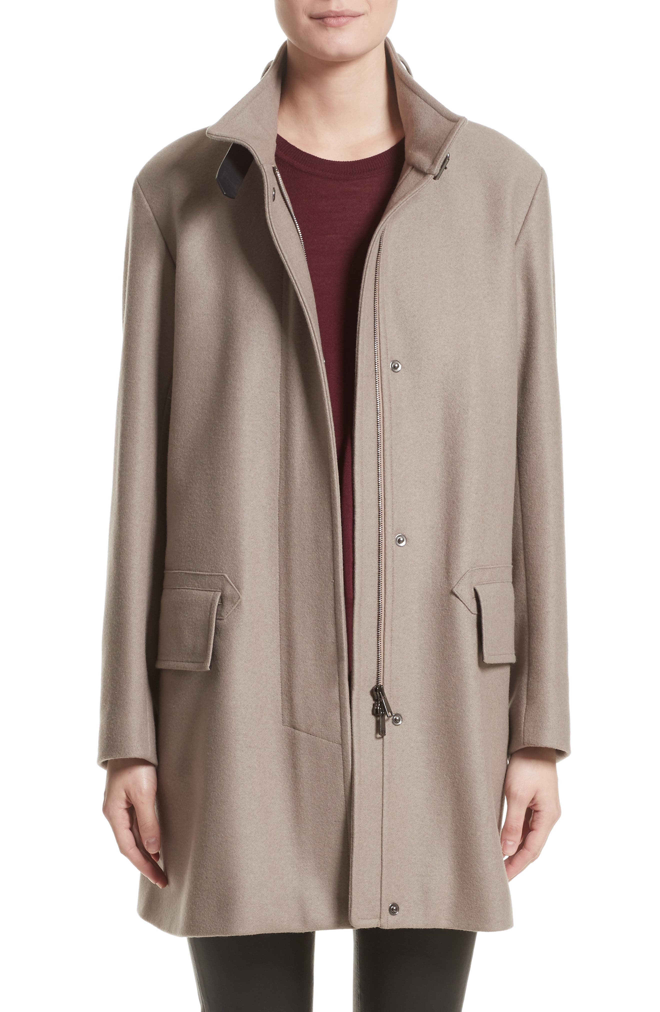 Moryah Wool Blend Coat,                         Main,                         color, Sanderling