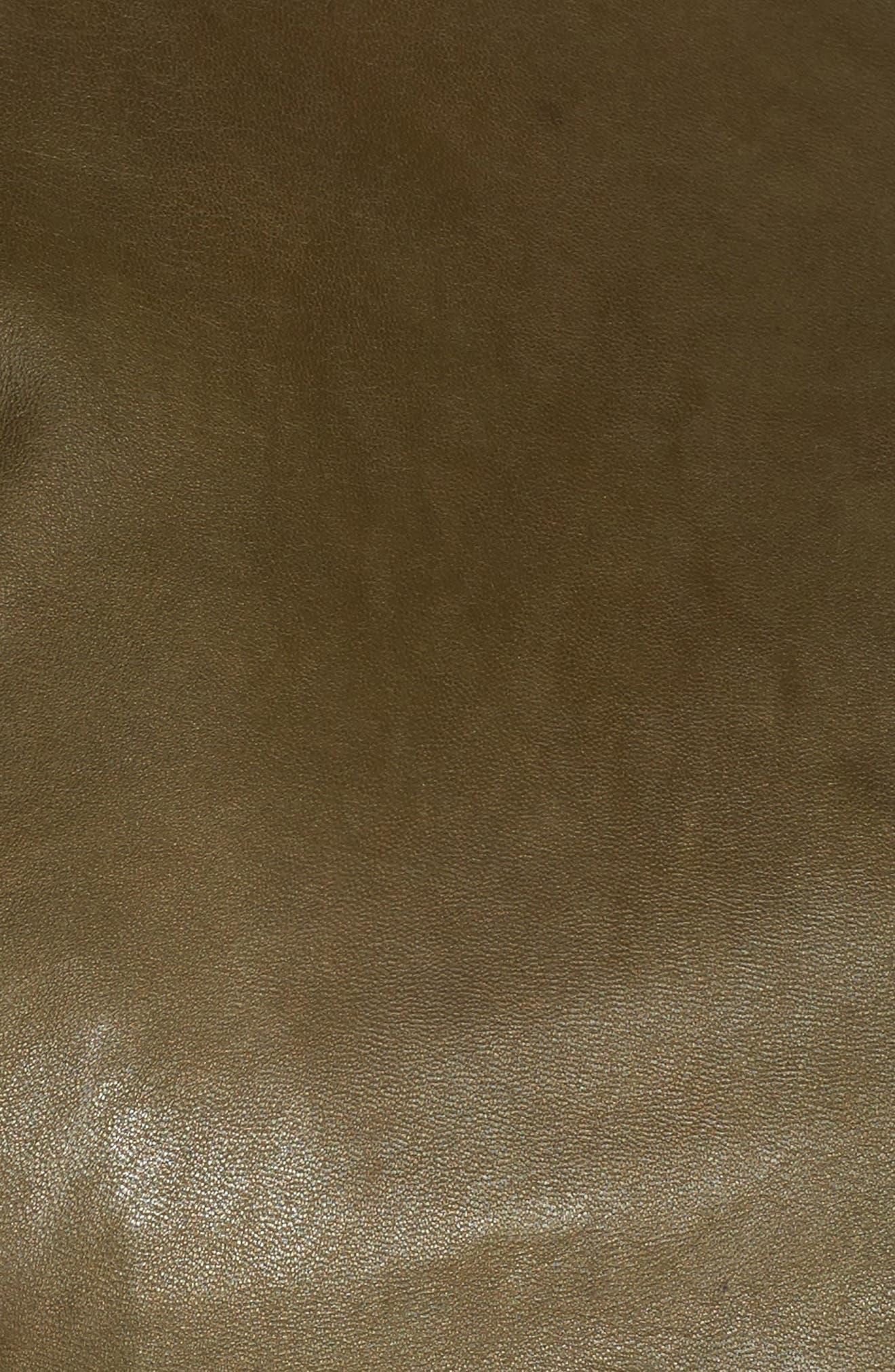 Alternate Image 5  - Sejour Leather Moto Jacket (Plus Size)