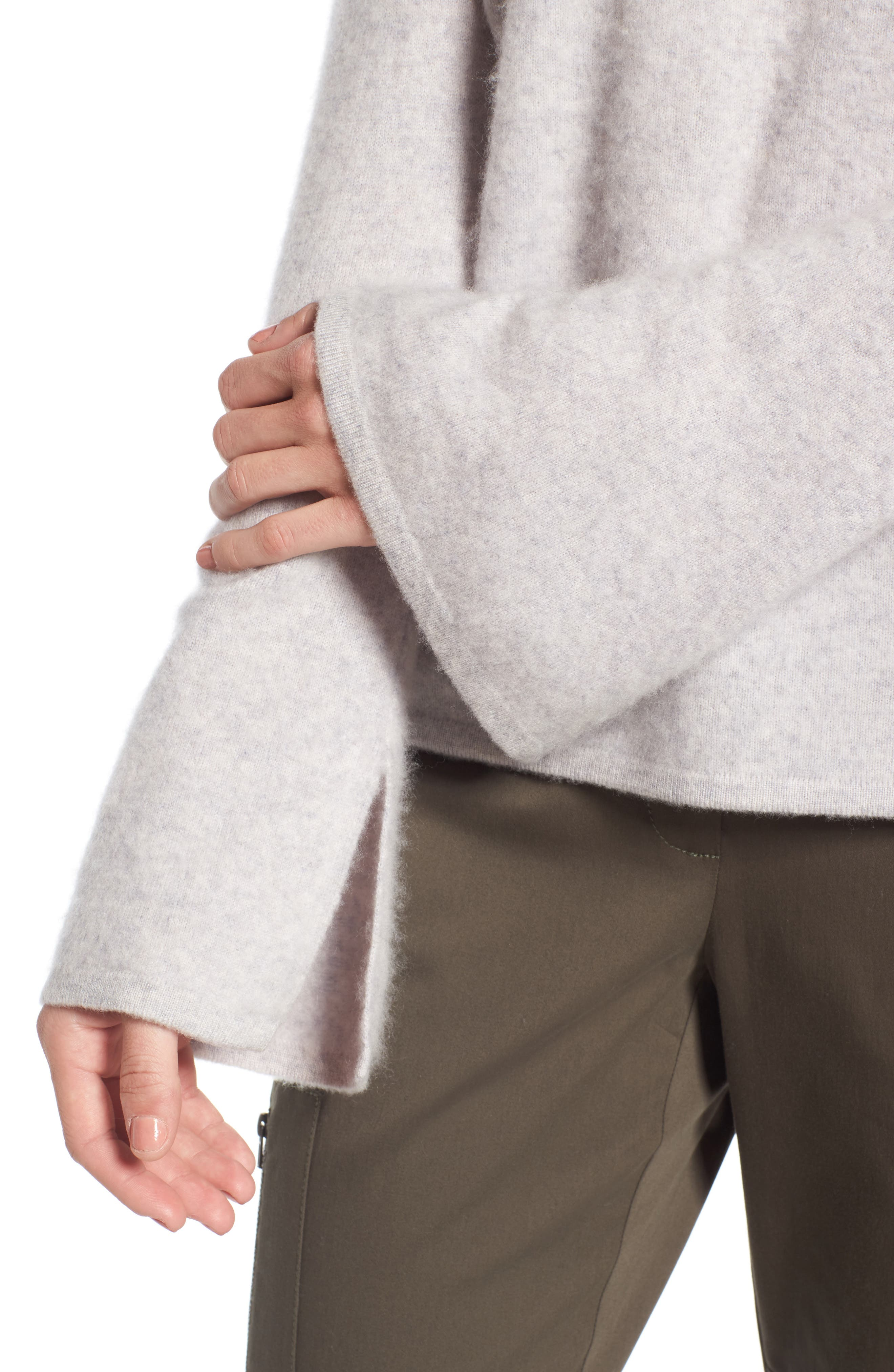 Boiled Cashmere Pullover,                             Alternate thumbnail 5, color,                             Grey Clay Heather