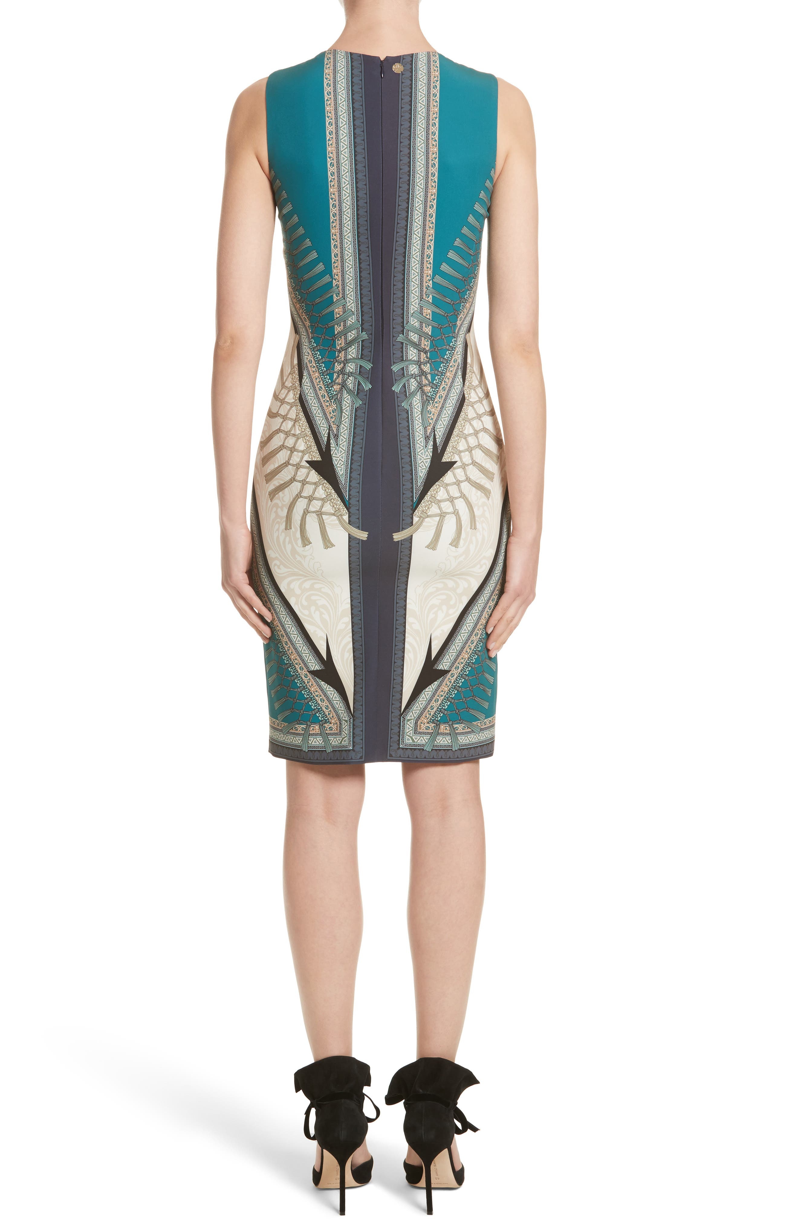 Alternate Image 2  - Versace Collection Scarf Print Dress