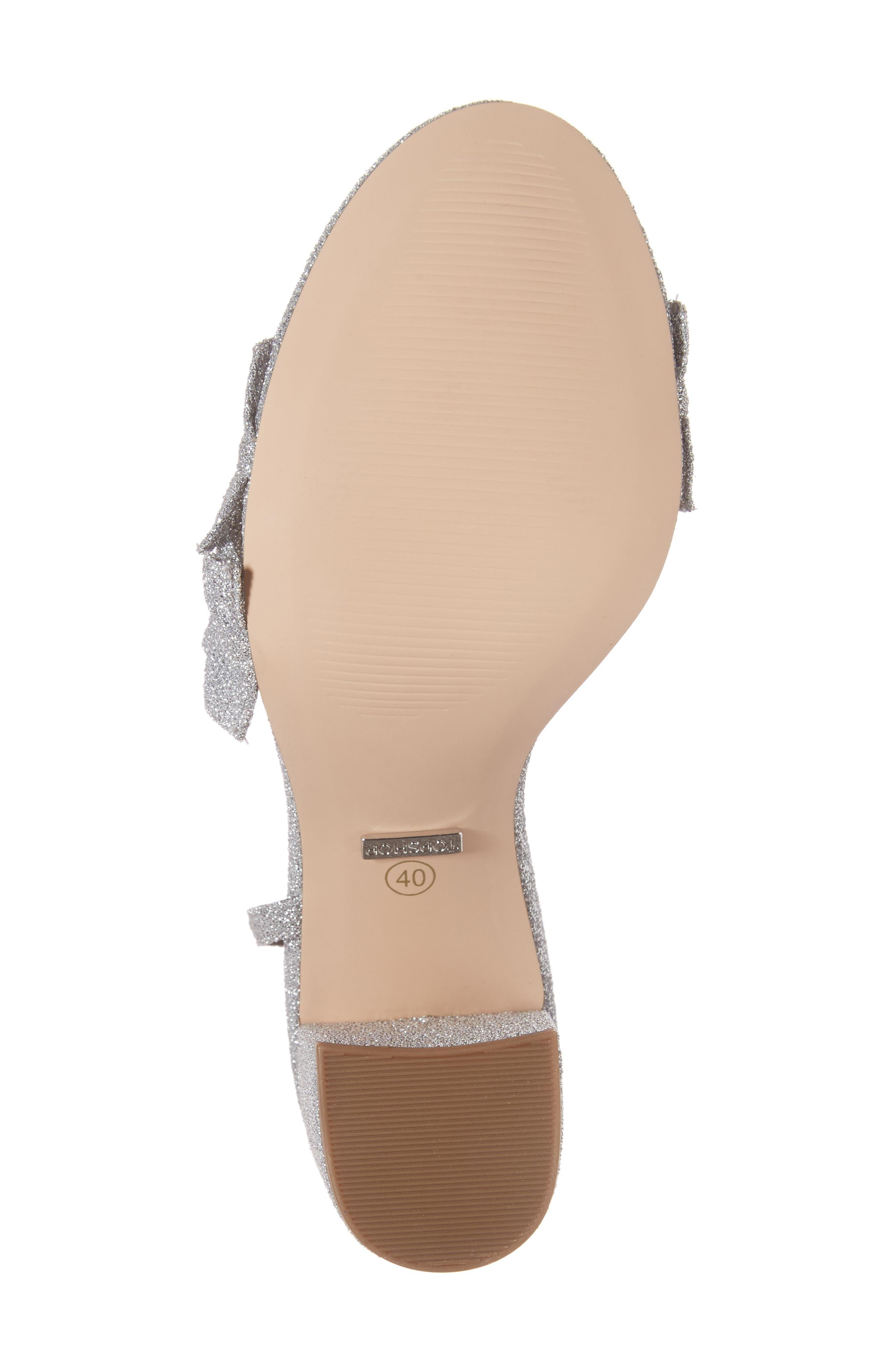 Alternate Image 6  - Topshop Real Asymmetrical Ruffled Sandal (Women)