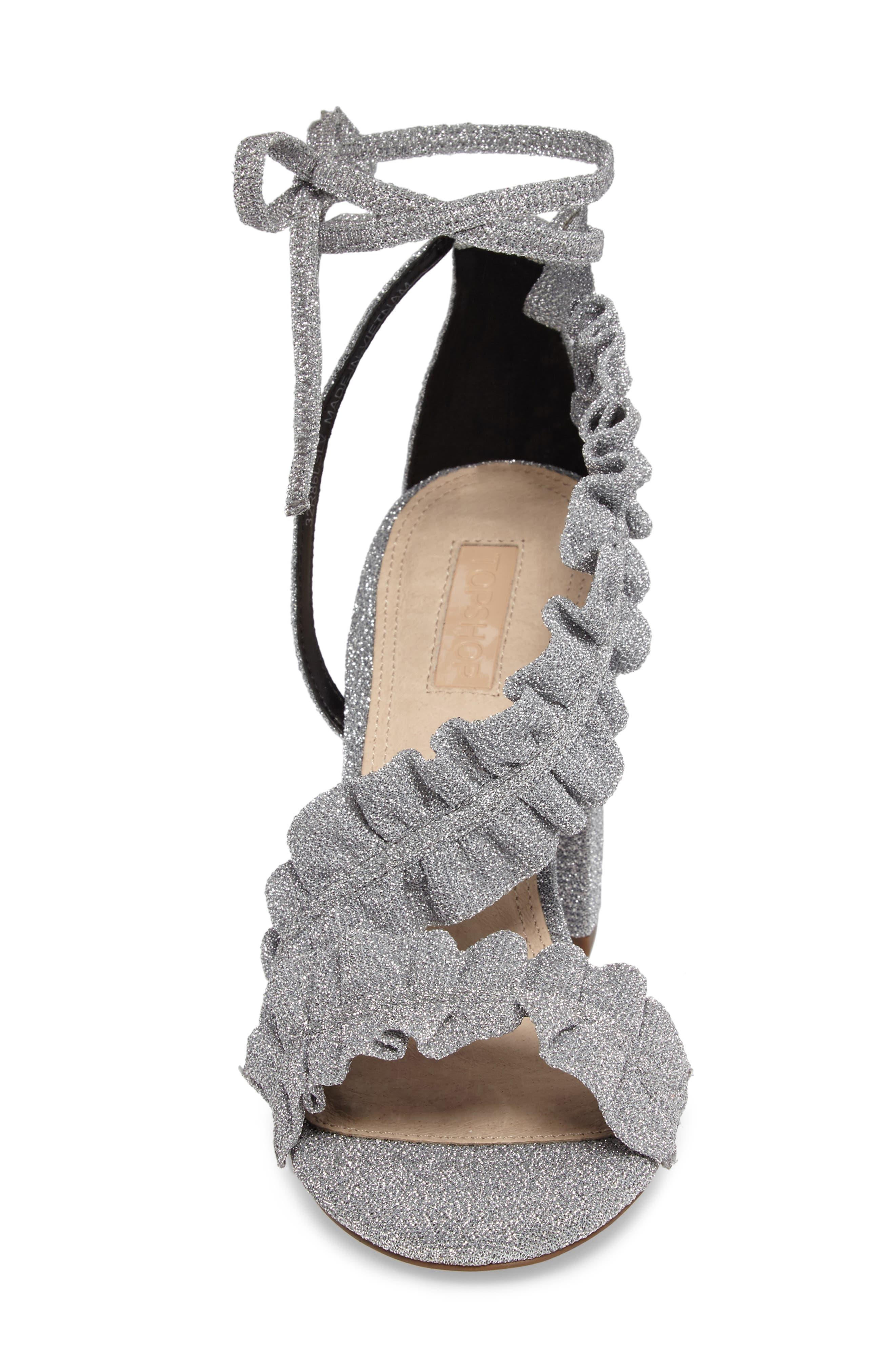 Alternate Image 4  - Topshop Real Asymmetrical Ruffled Sandal (Women)