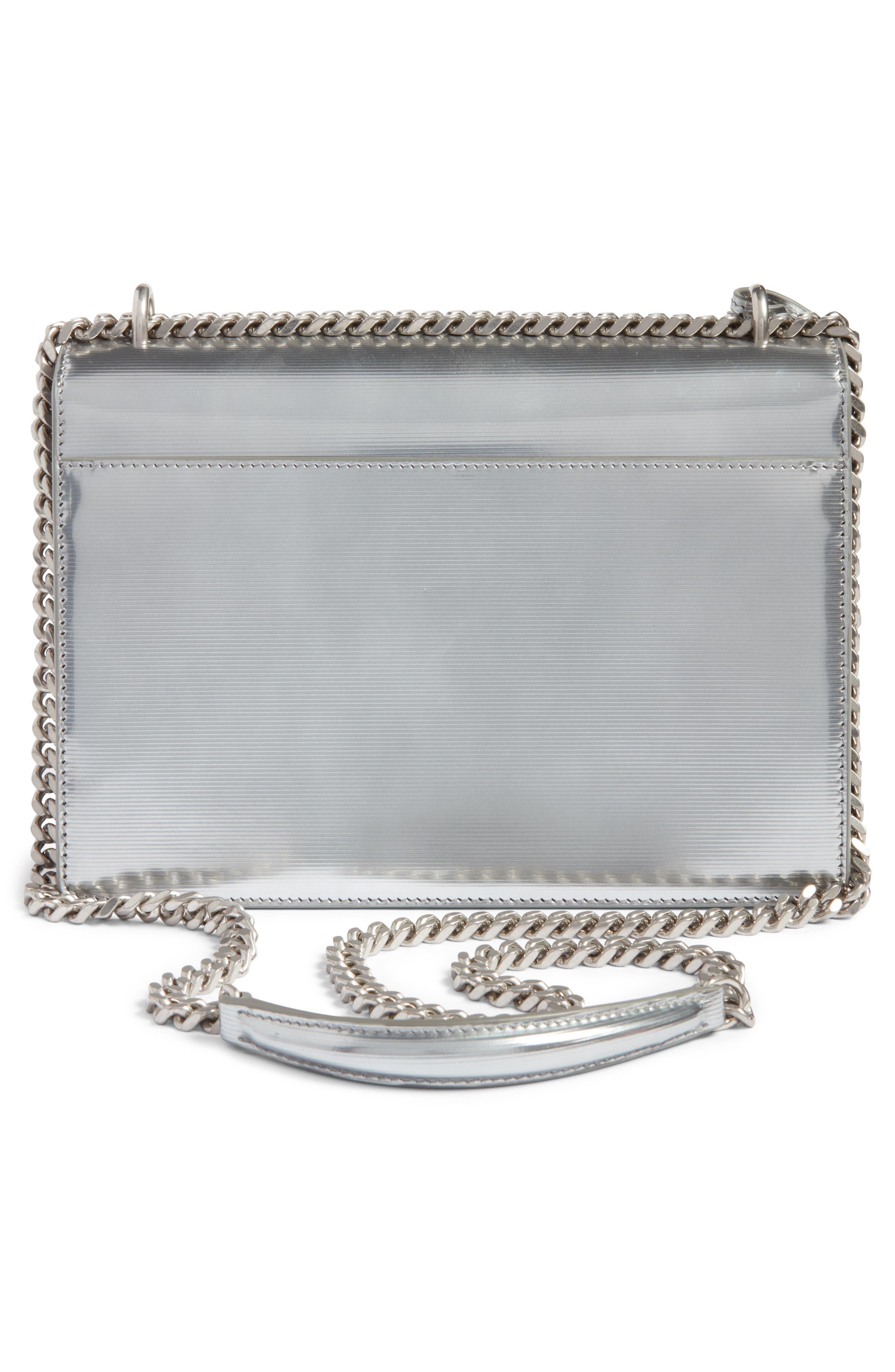 Medium Sunset Opium Leather Crossbody Bag,                             Alternate thumbnail 3, color,                             Dark Silver