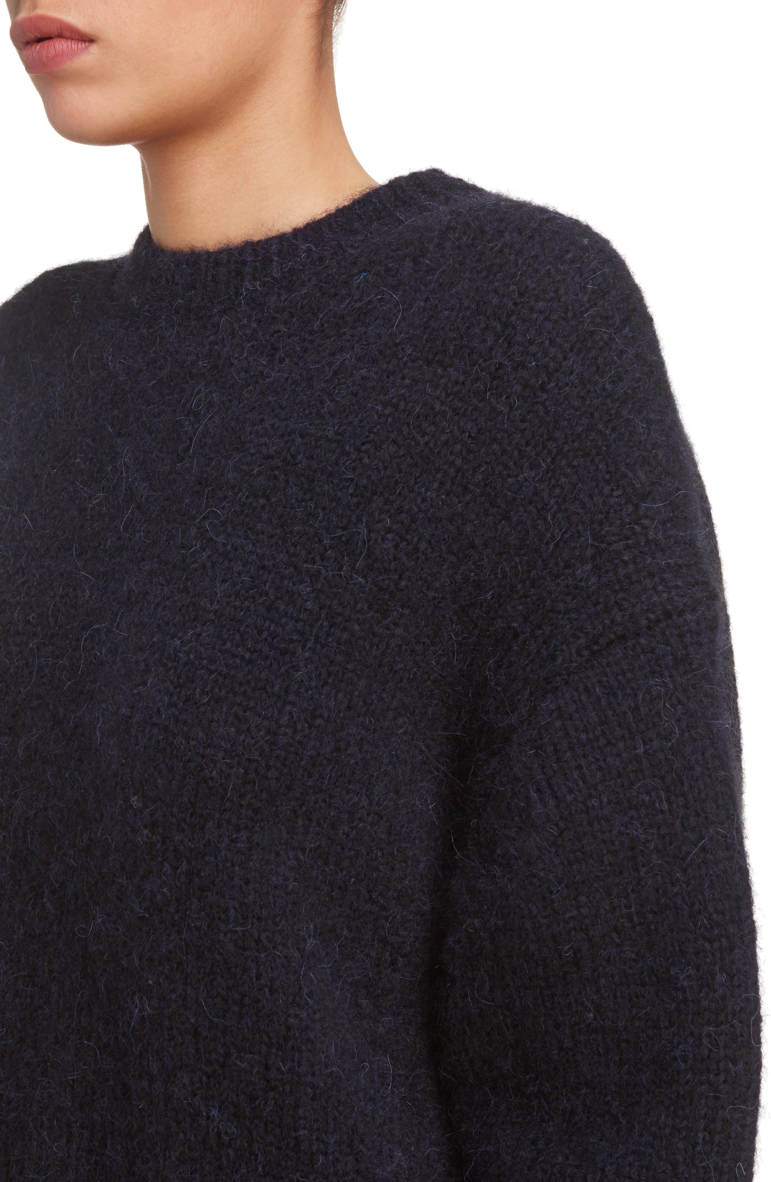 Karel Oversize Merino Sweater,                             Alternate thumbnail 4, color,                             Black