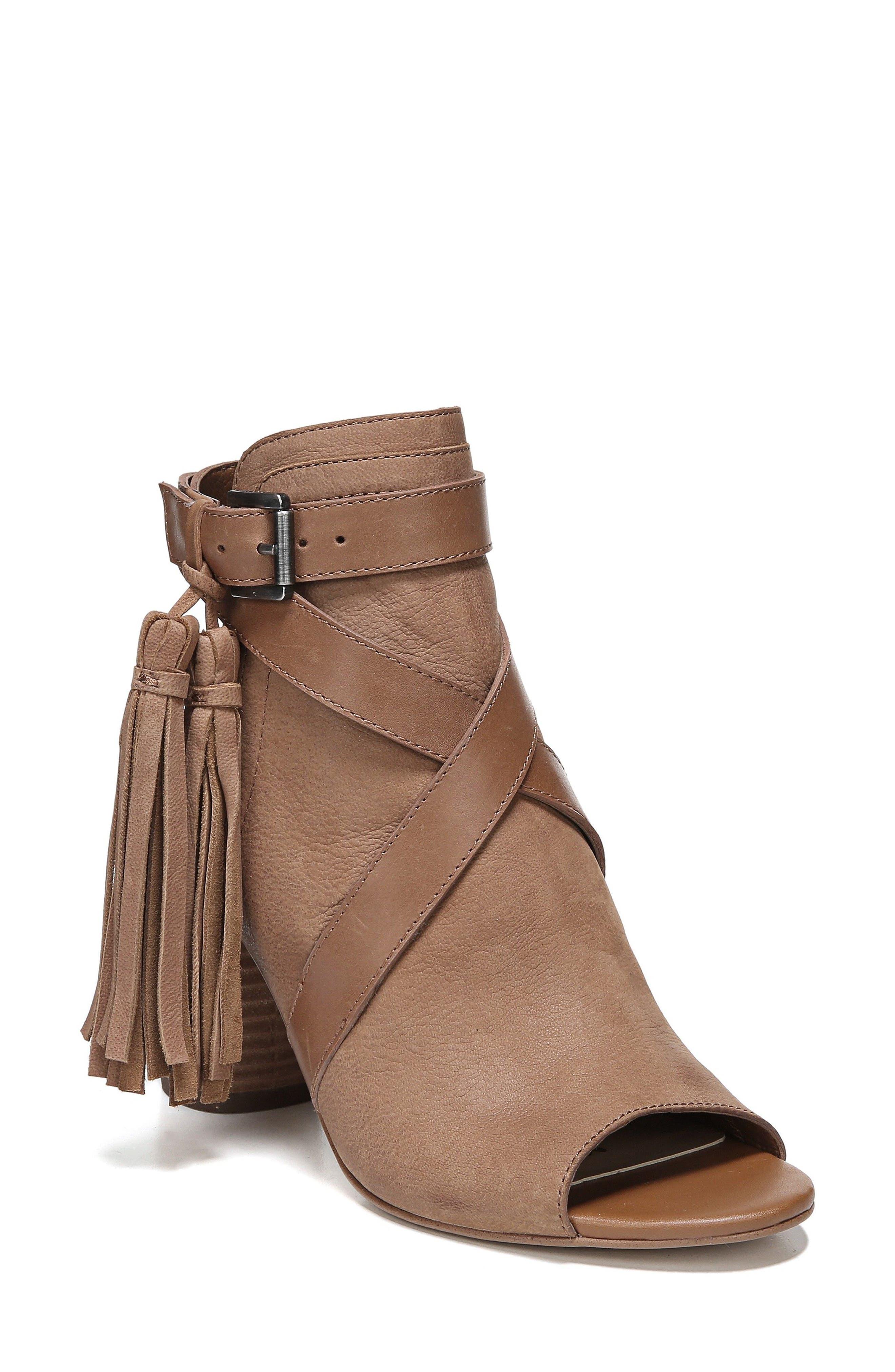 Vermont Block Heel Sandal,                         Main,                         color, Deep Saddle Nubuck Leather