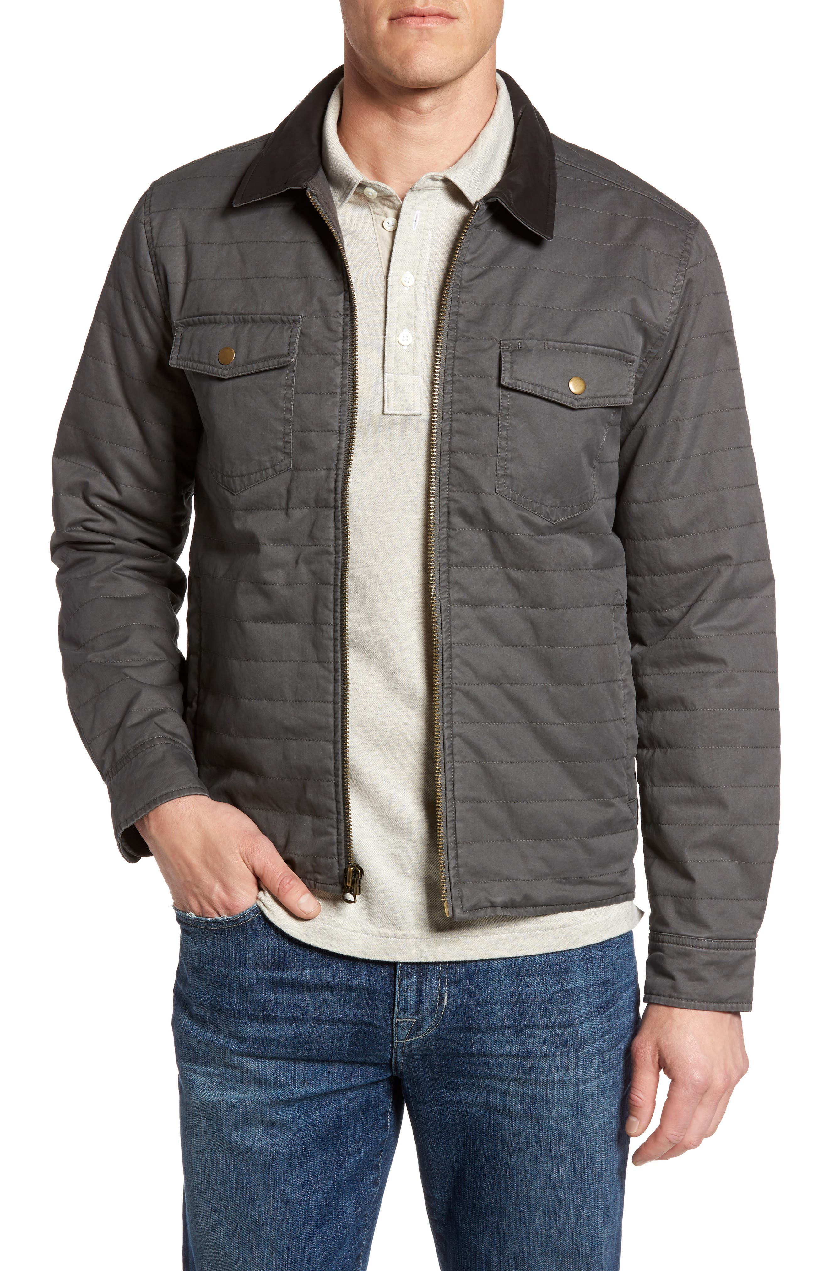 Billy Reid Quilted Shirt Jacket